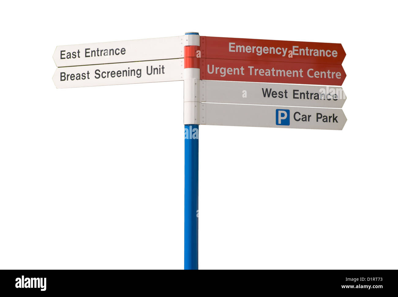 Hospital Information and Directions Sign - Stock Image