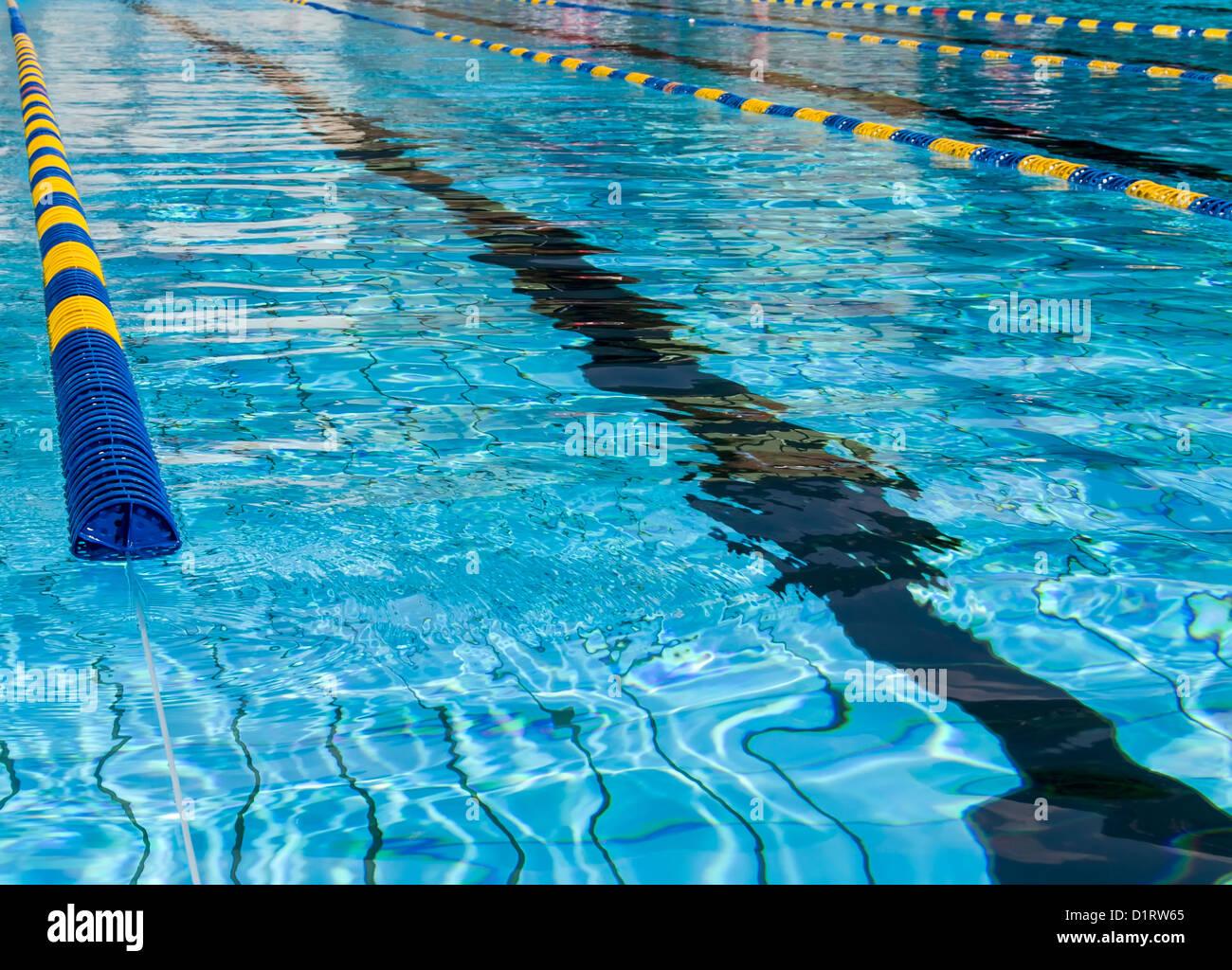 Swimming Pool Lane Lines Water Stock Photos & Swimming Pool Lane ...
