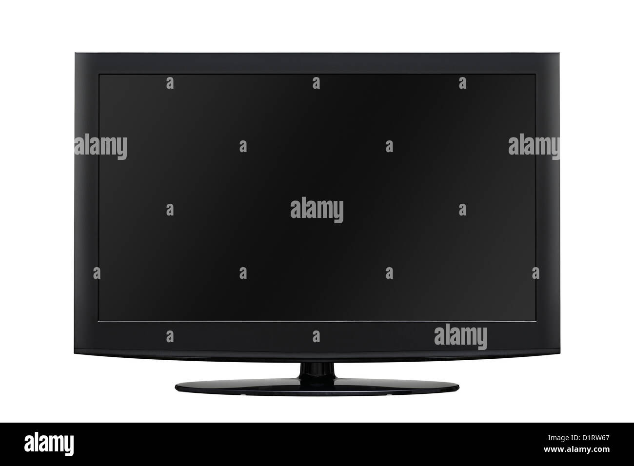 LCD TV, Cut Out. - Stock Image