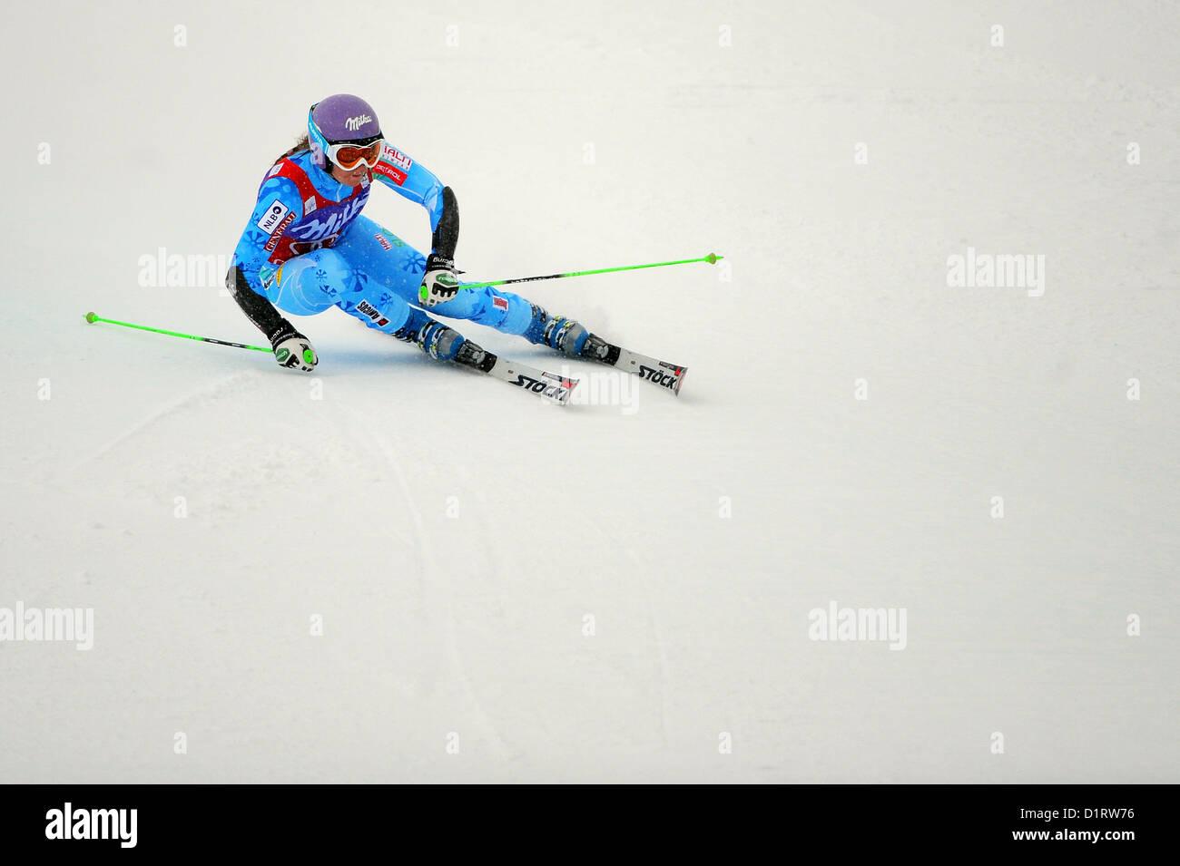 Audi FIS World Cup, Ladies Giant Slalom, Courchevel, France, 16.12.12. Winner -  Tina Maze of Slovenia. - Stock Image