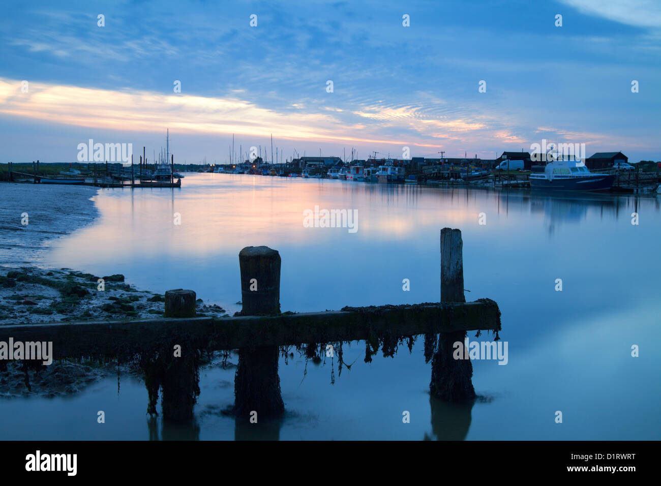 River Blyth, Walberswick sunset, Suffolk coast, Southwold, East Anglia, UK - Stock Image
