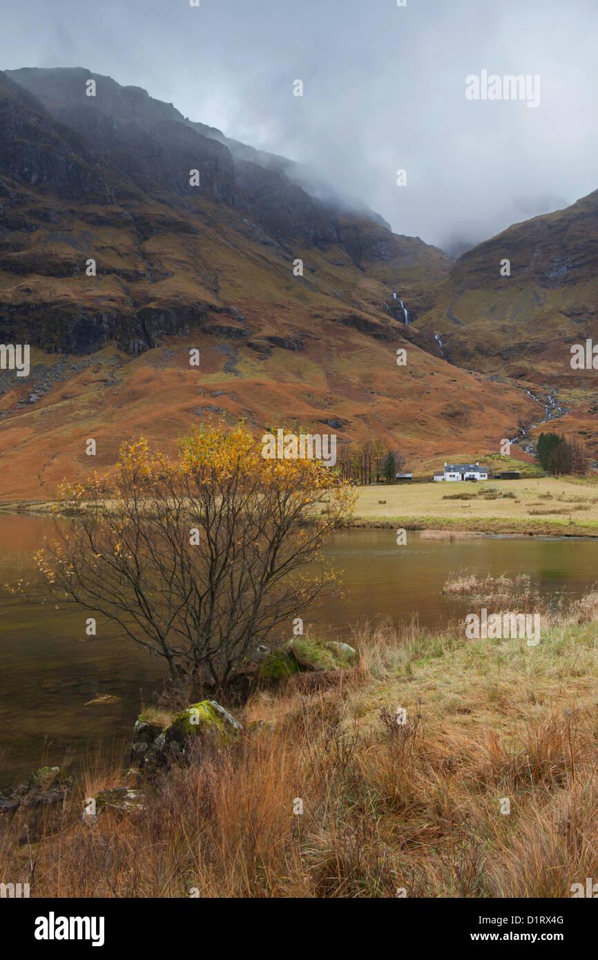 Loch Achtriochtan Glencoe Scotland - Stock Image