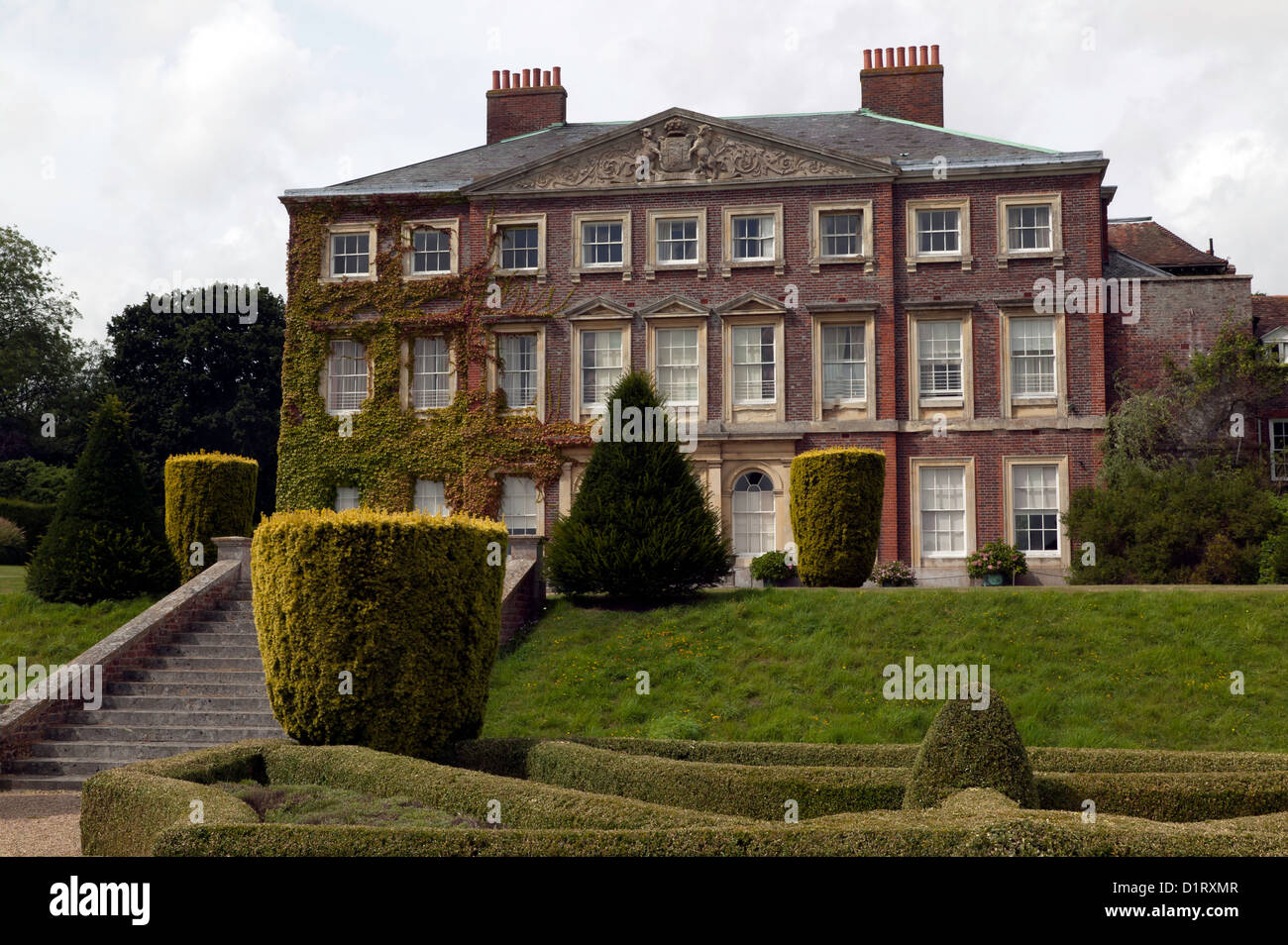 View of  Goodnestone House, built by Brook Bridges in 1704. Presently owned by  Margaret, The Lady Fitzwalter. - Stock Image