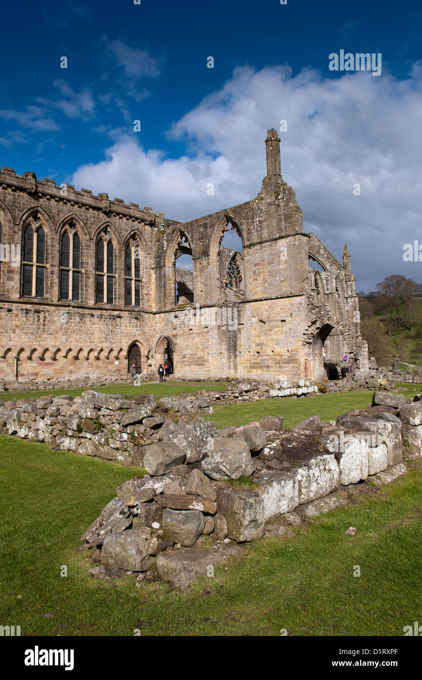 Bolton Abbey an Augustinian abbey in the Yorkshire Dales National Park. Stock Photo