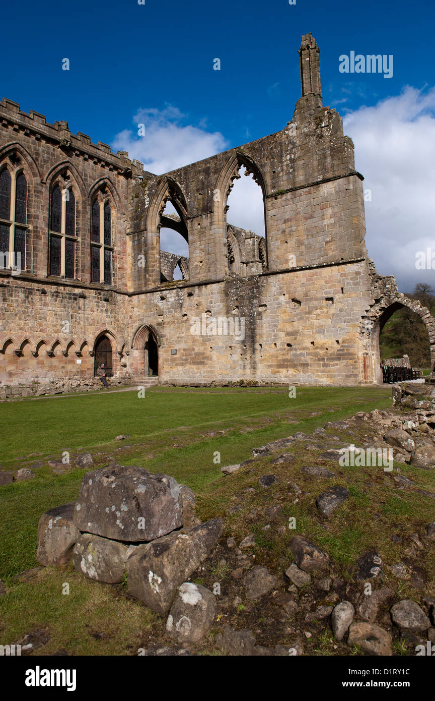 Bolton Abbey an Augustinian abbey in the Yorkshire Dales National Park. - Stock Image