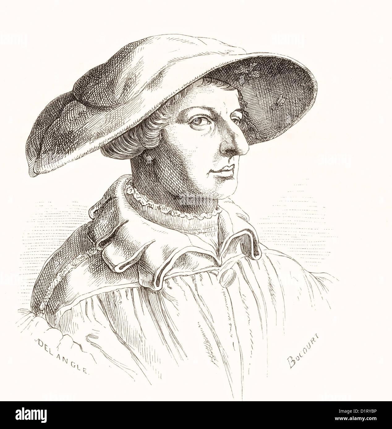 Heinrich Aldegrever or Aldegraf, 1502–1555/1561. German artist and engraver. - Stock Image