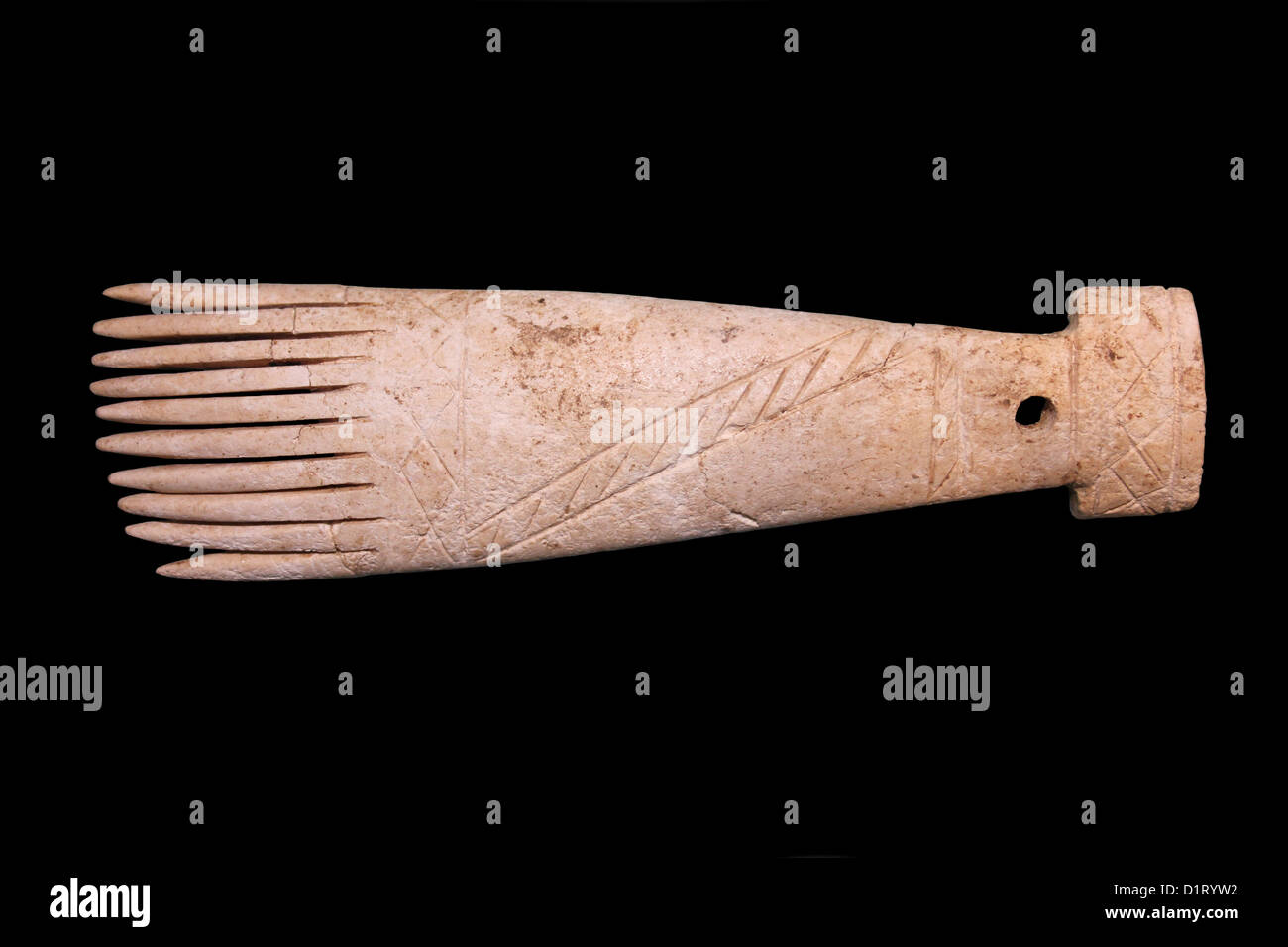 Iron Age Weaving Comb - Stock Image