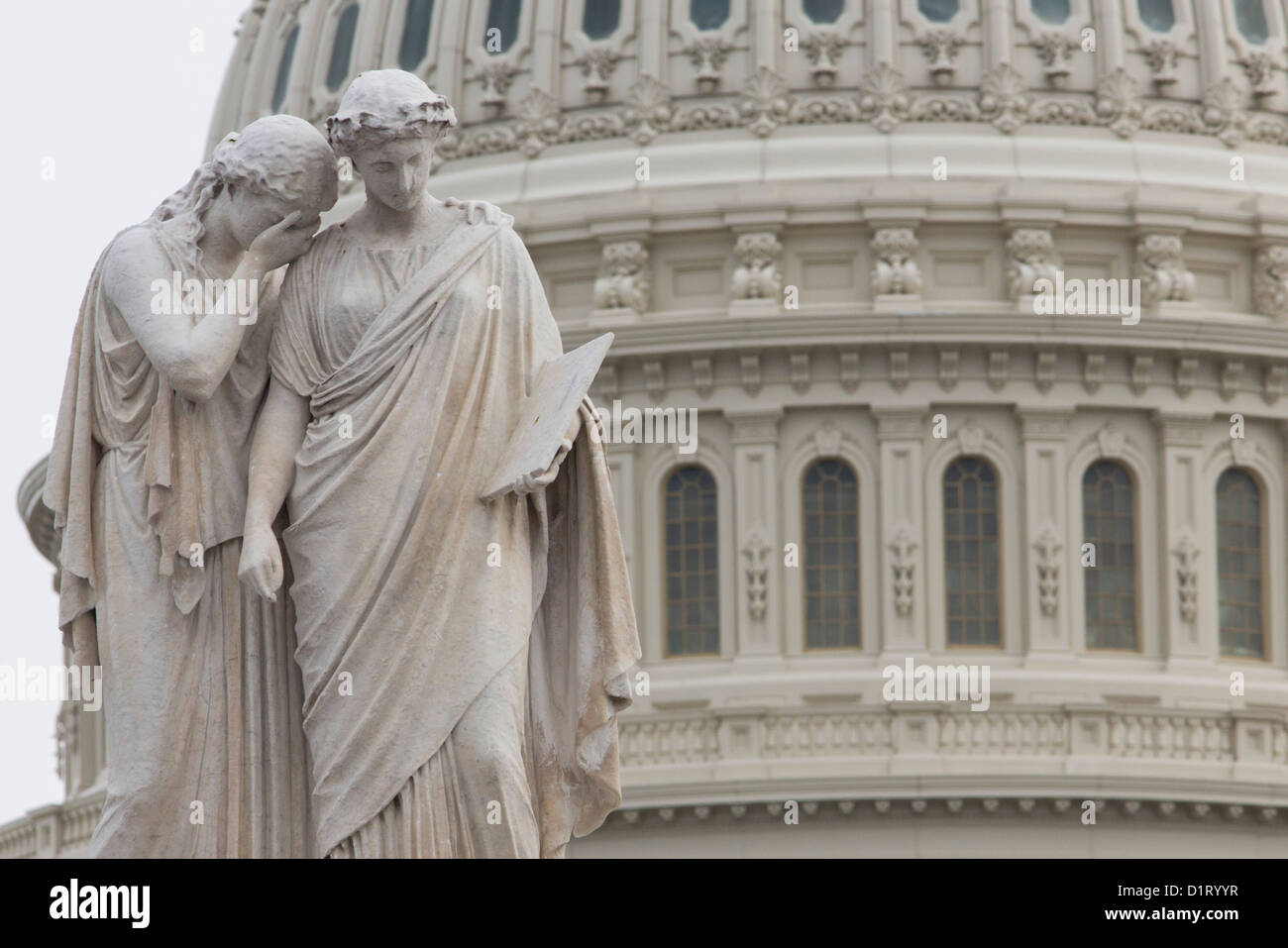 Views of the United States Capitol building, home of the United States Congress.  - Stock Image