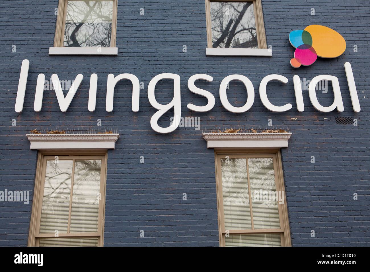 an office occupied by daily deals company livingsocial stock photo