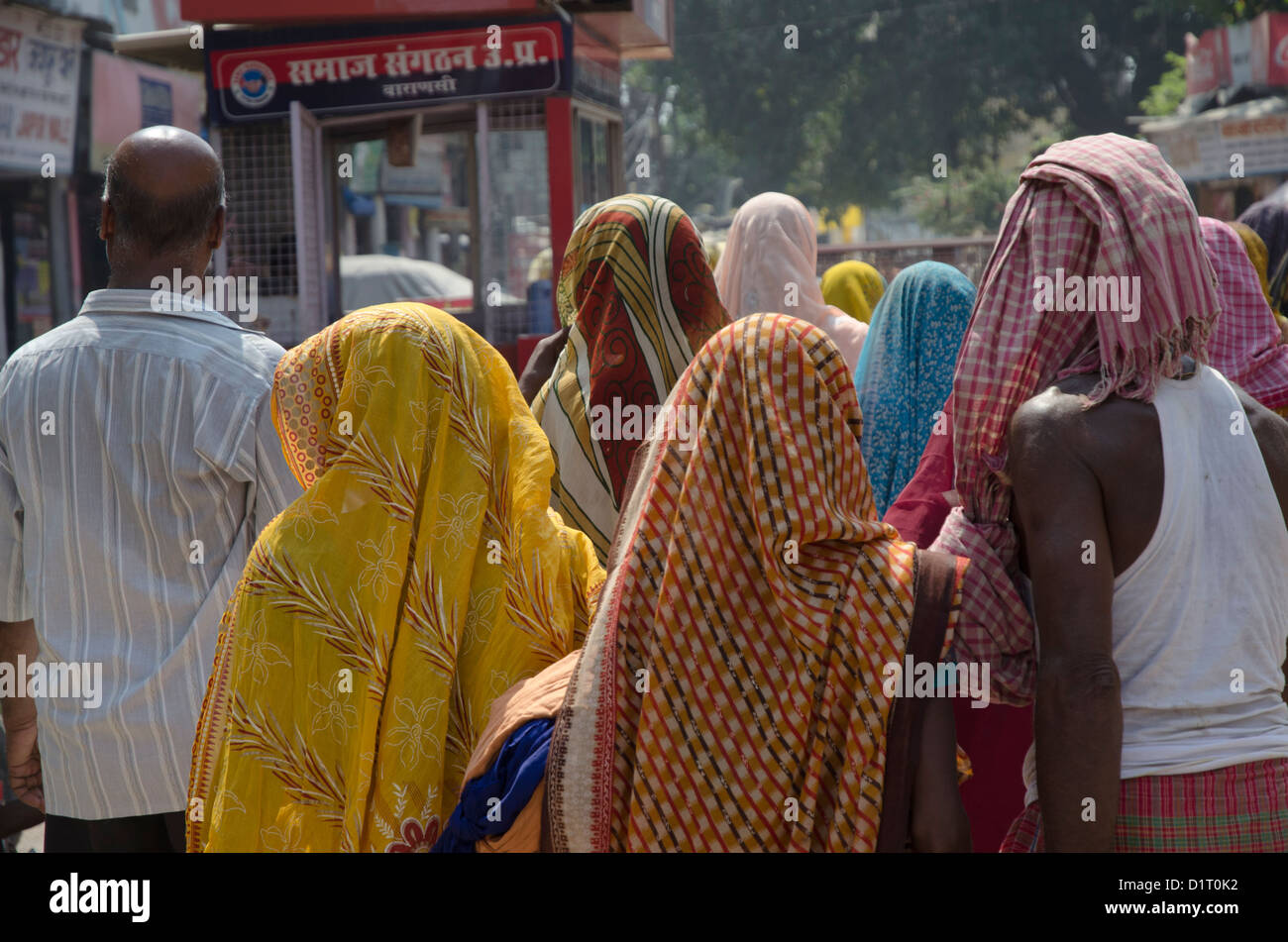 Colorful clothed people in Udaipur, Rajastan, India - Stock Image