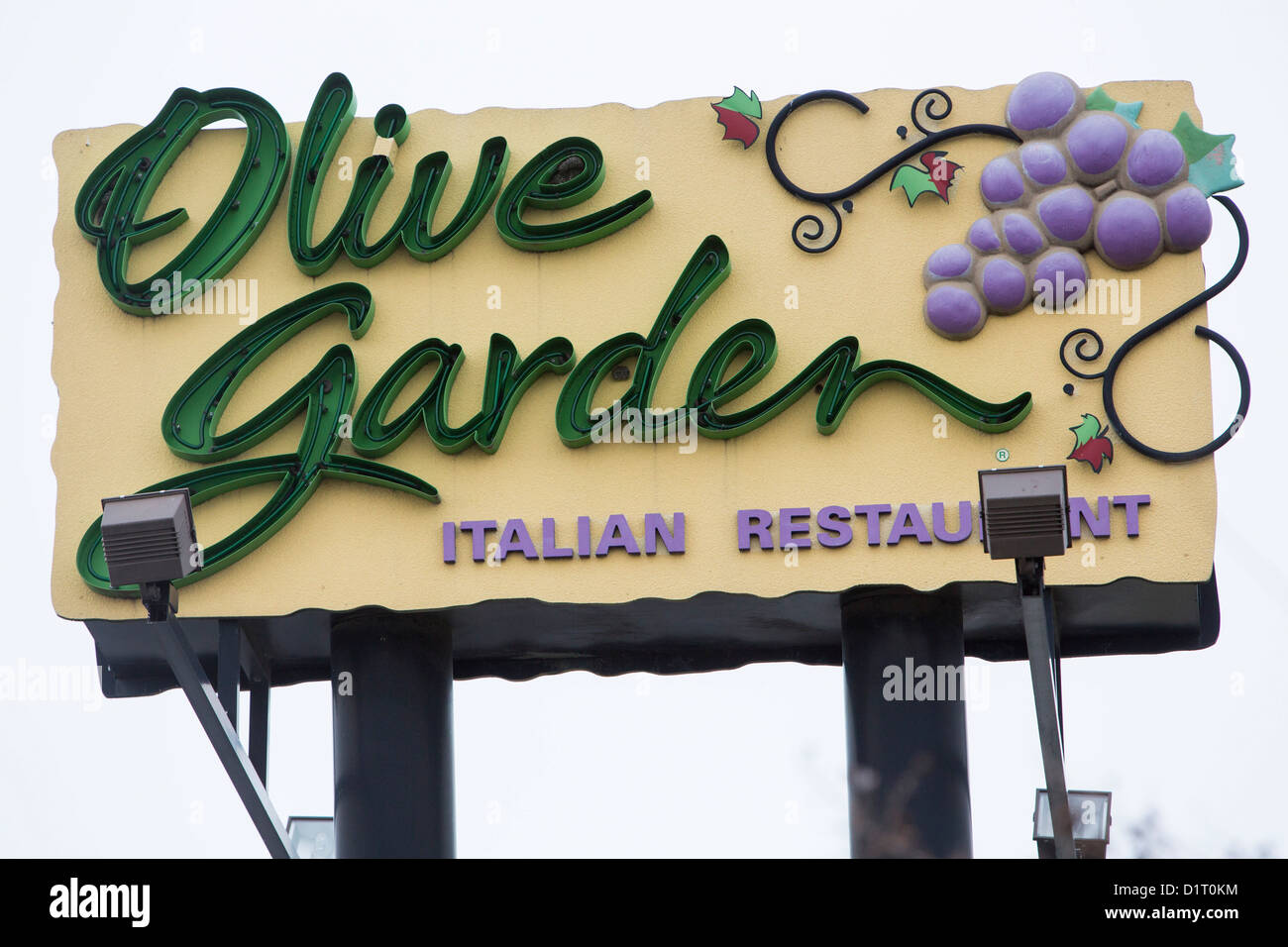 An Olive Garden Casual Dining Chain Restaurant.   Stock Image
