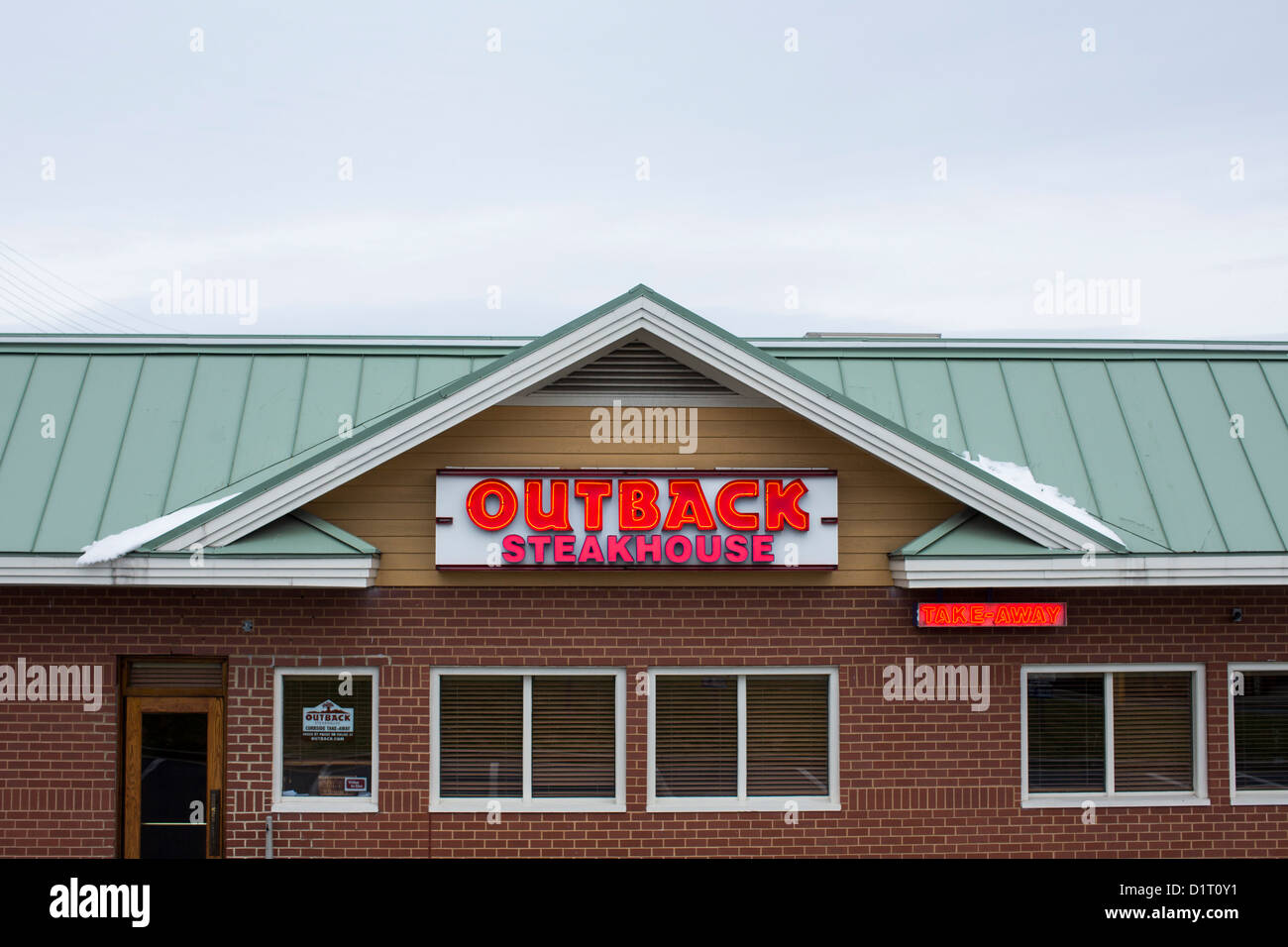 An Outback Steakhouse casual dining chain restaurant.  - Stock Image