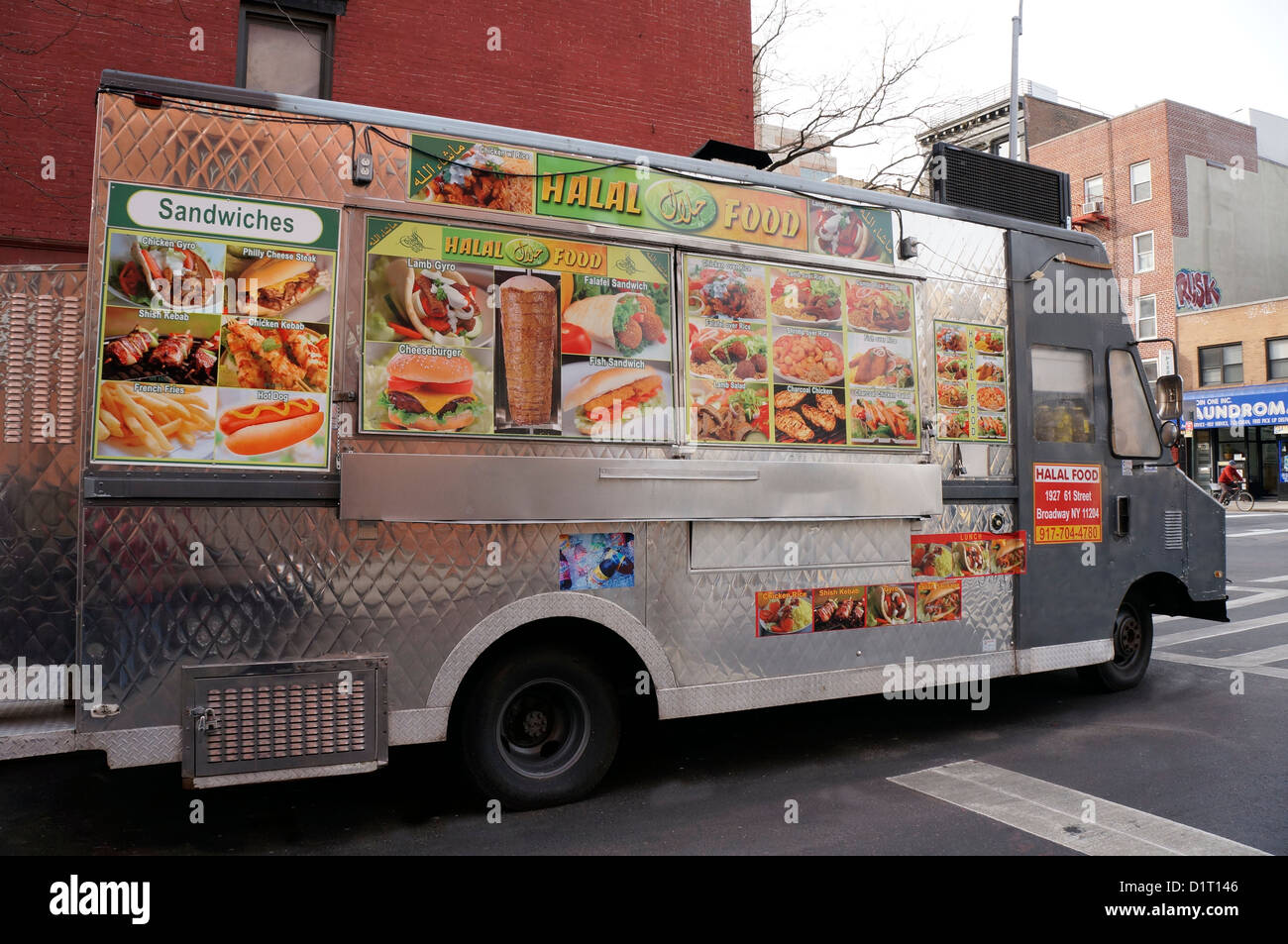 Halal Food Truck In The East Village Area Of New York City Ny Stock