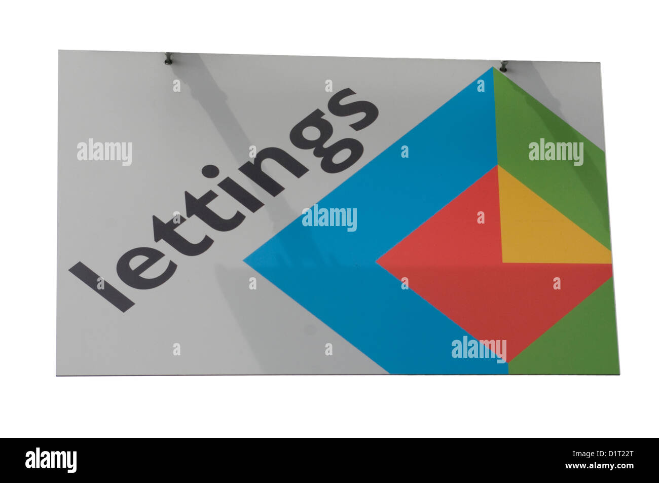 Lettings Sign - Stock Image