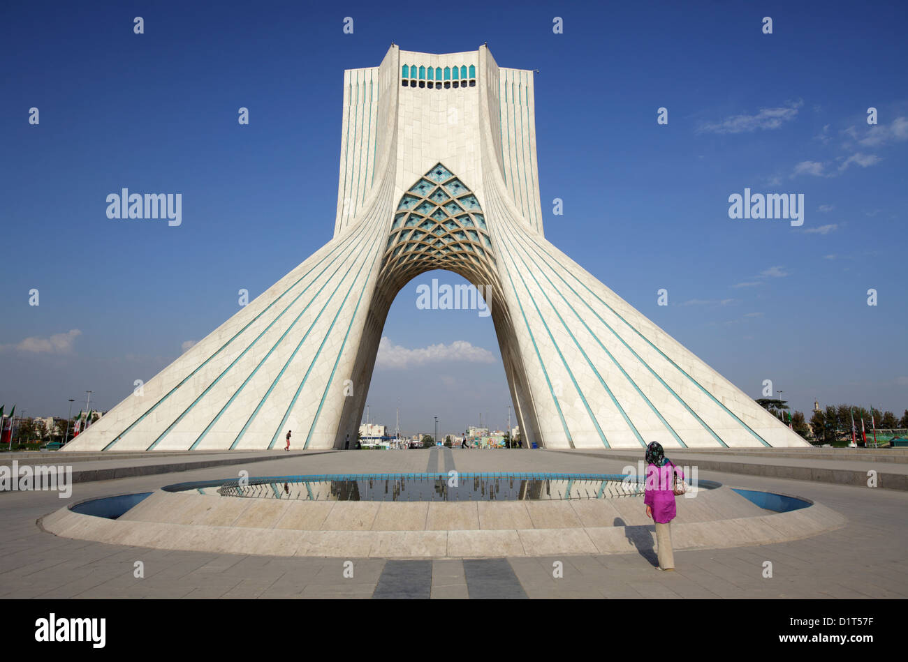 The Azadi Tower, or King Memorial Tower, Tehran, Iran - Stock Image