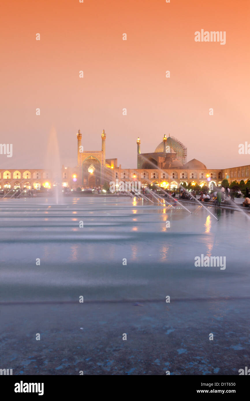 Imam mosque (also called Shah mosque) in Naqsh-e Jahan Square, Esfahan, Iran - Stock Image