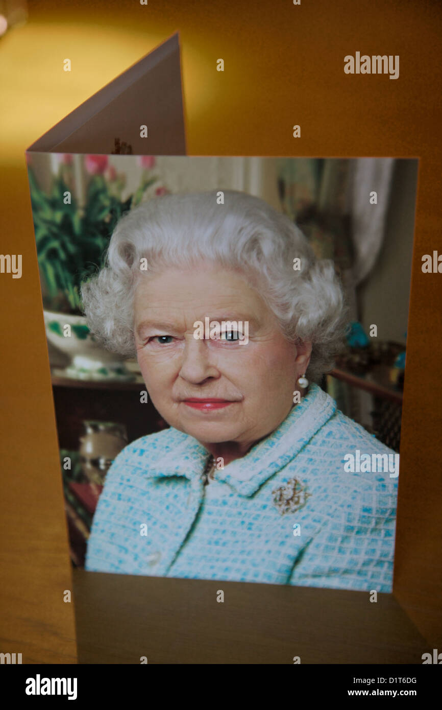 telegram sent by the queen to citizens on their 100th birthday england stock image