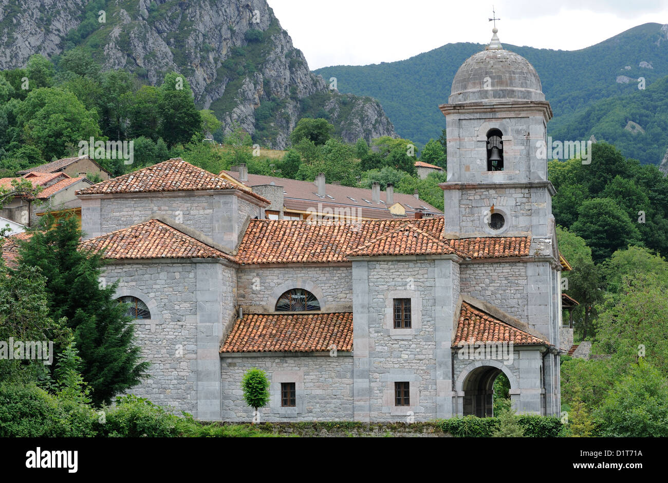 Romanesque building near Potes. Potes, Picos de Europa Asturias, Spain. - Stock Image