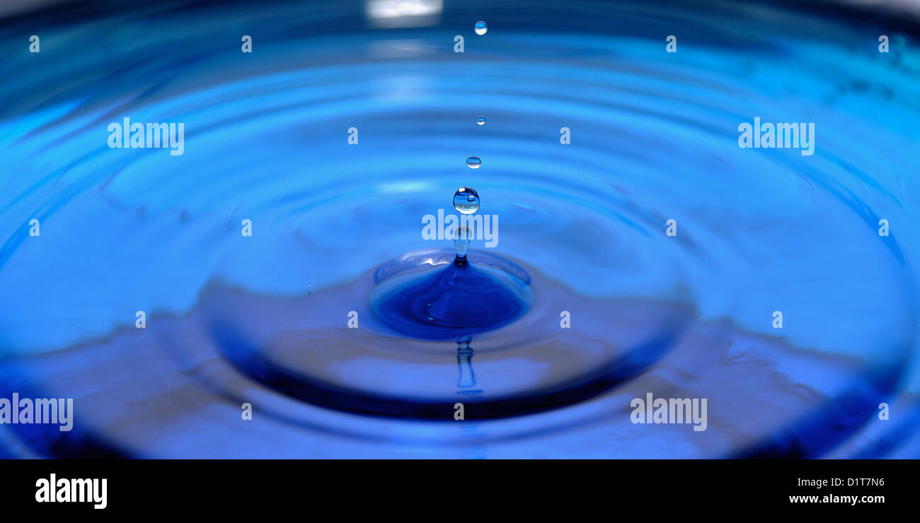 blue water drops - Stock Image