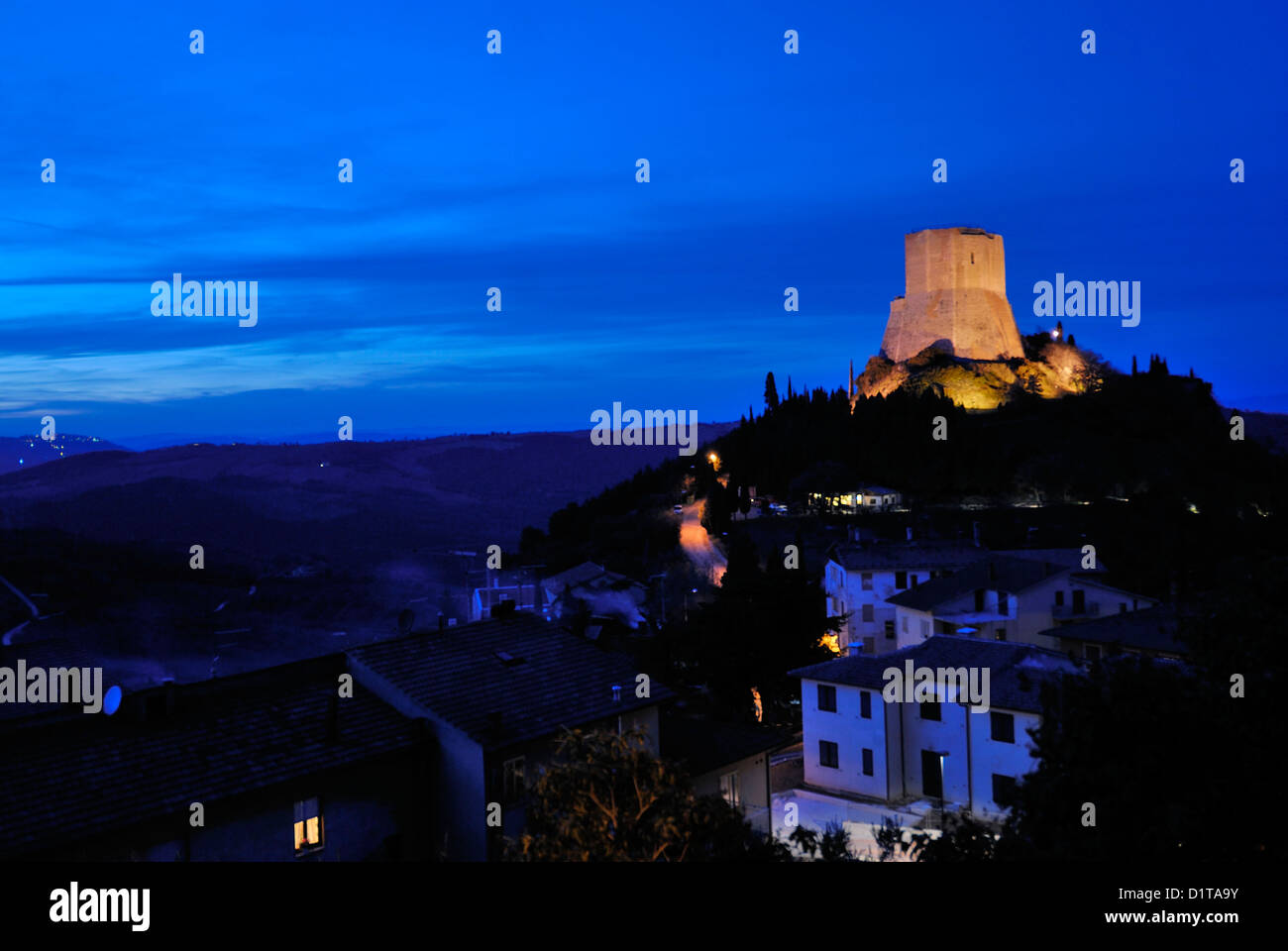Tentennano stronghold, Val d'Orcia landscapes, Siena, Tuscany, Italy - Stock Image