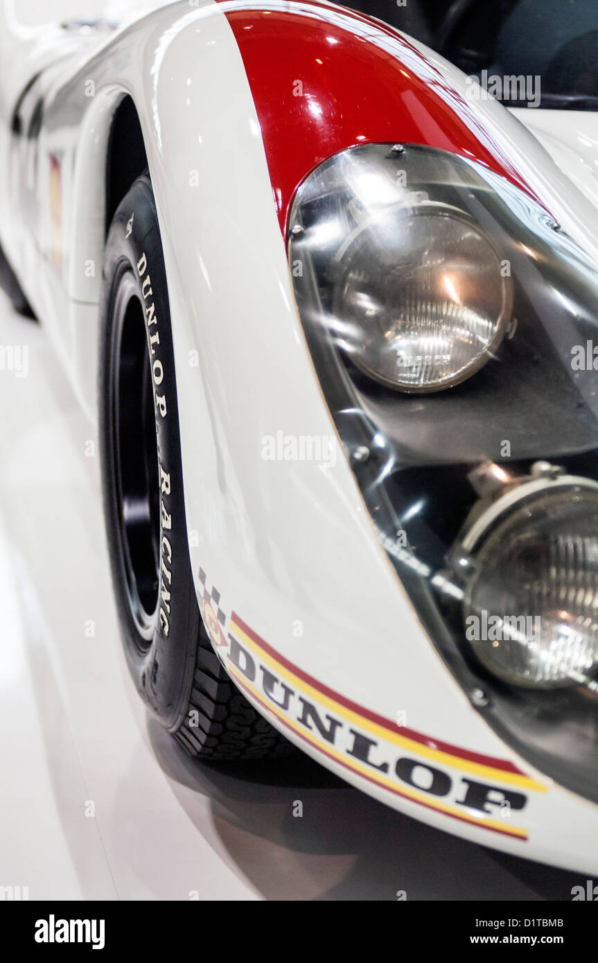 Detail of Porsche 908 Historic Racing Car of the 1960ies - Stock Image