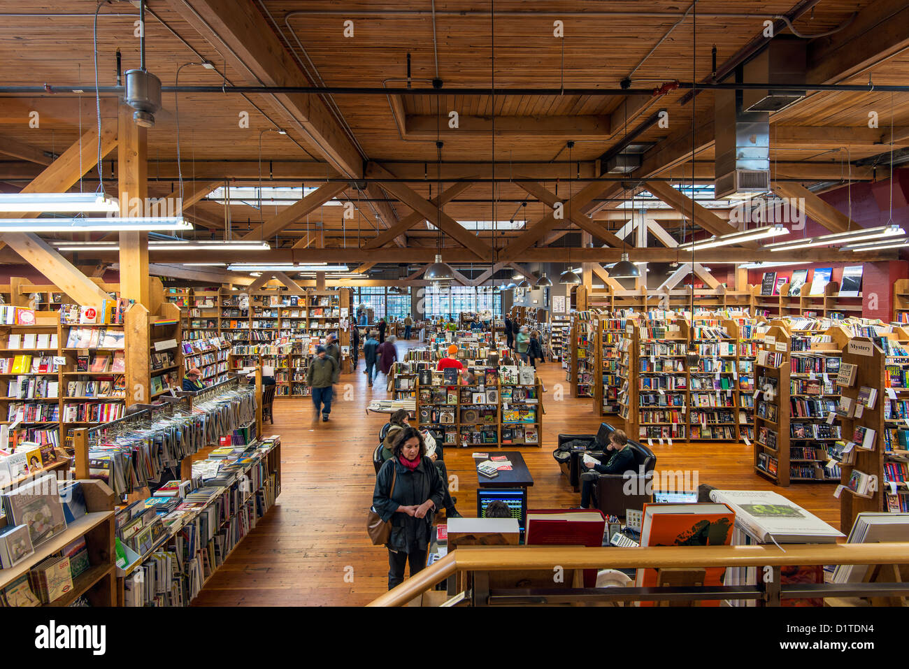 The Elliott Bay Book Company bookstore at Capitol Hill, Seattle, Washington, USA - Stock Image