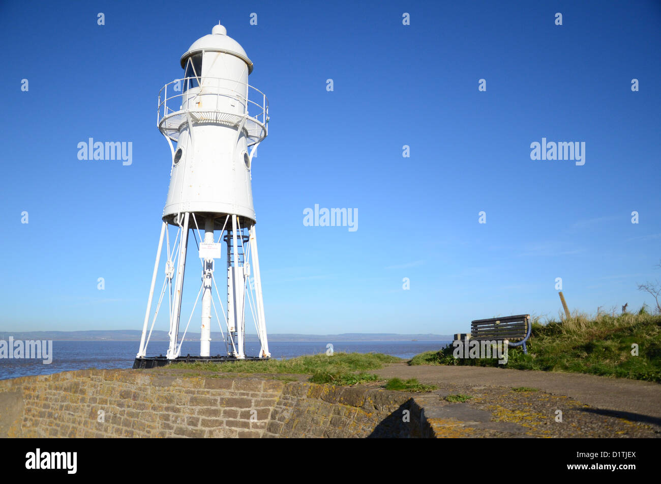 Black Nore Point lighthouse North Somerset - Stock Image