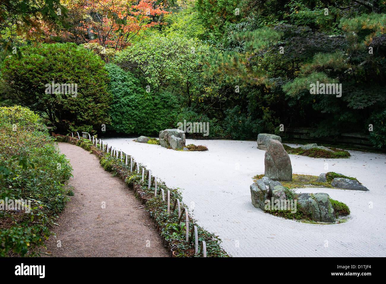 Asticou Garden, Mt Desert Island, Maine, USA - Stock Image