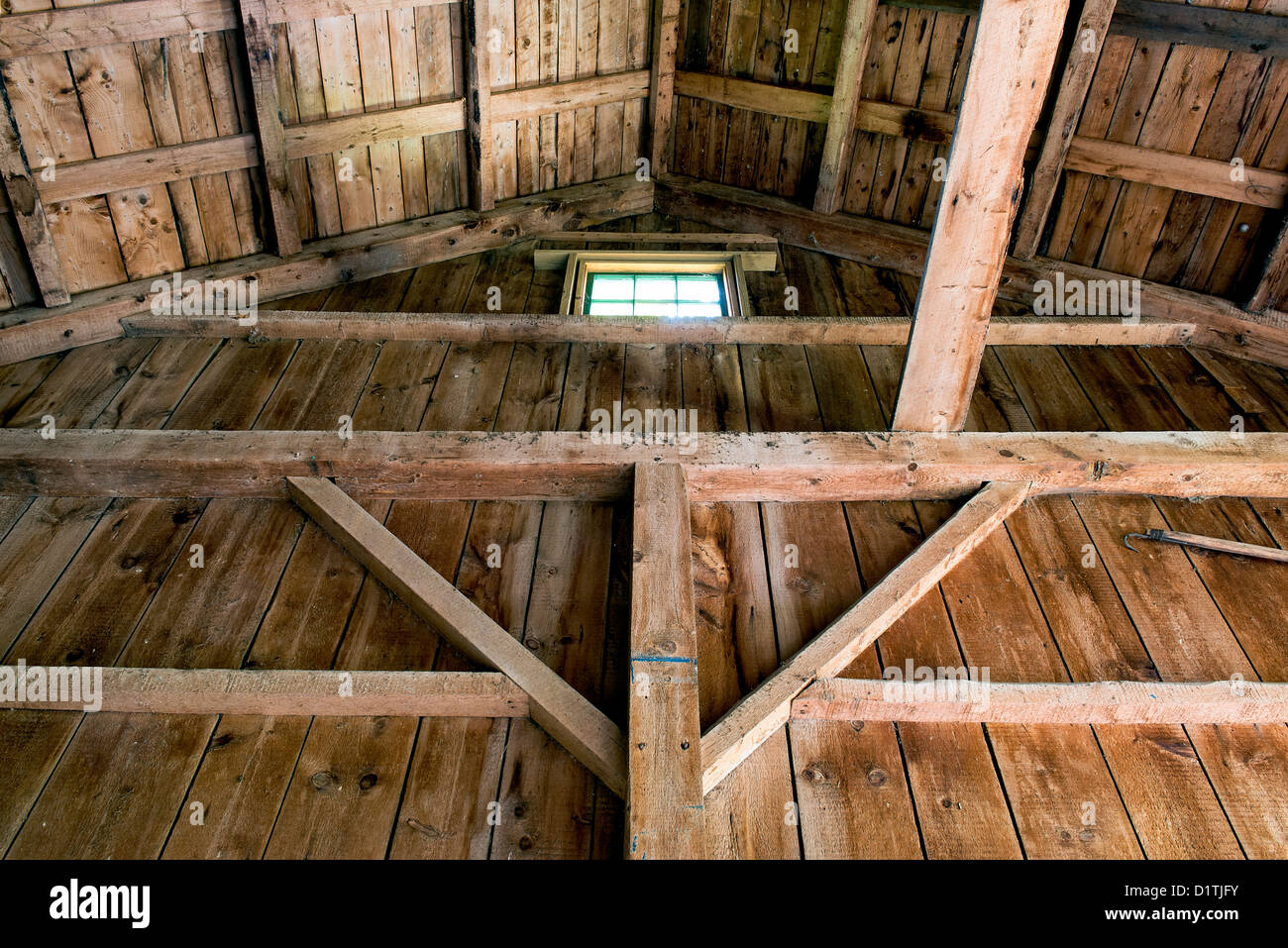 Interior of a barn. - Stock Image