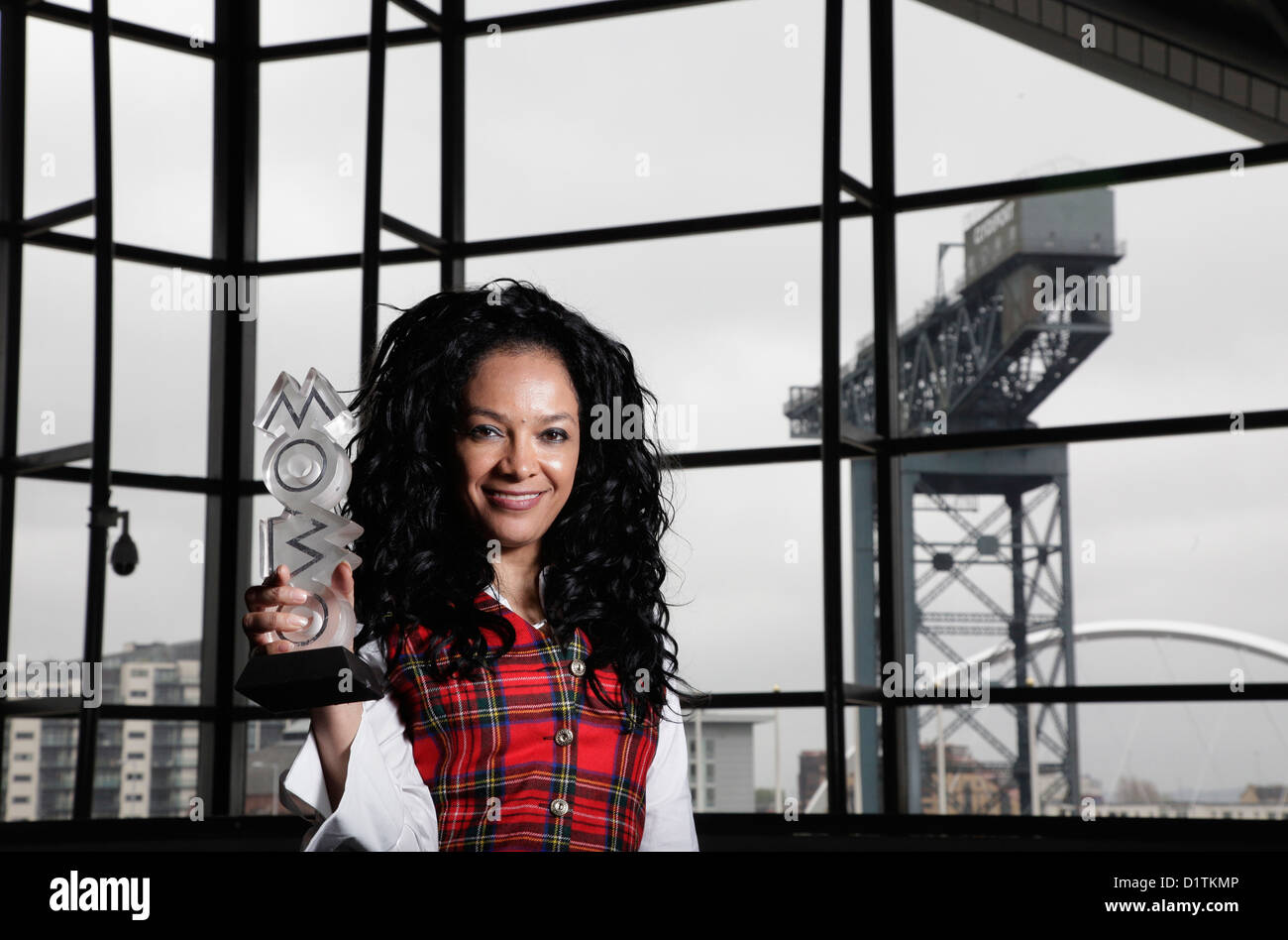 Kanya King announces MOBO awards are coming to Glasgow in 2009.  - Stock Image