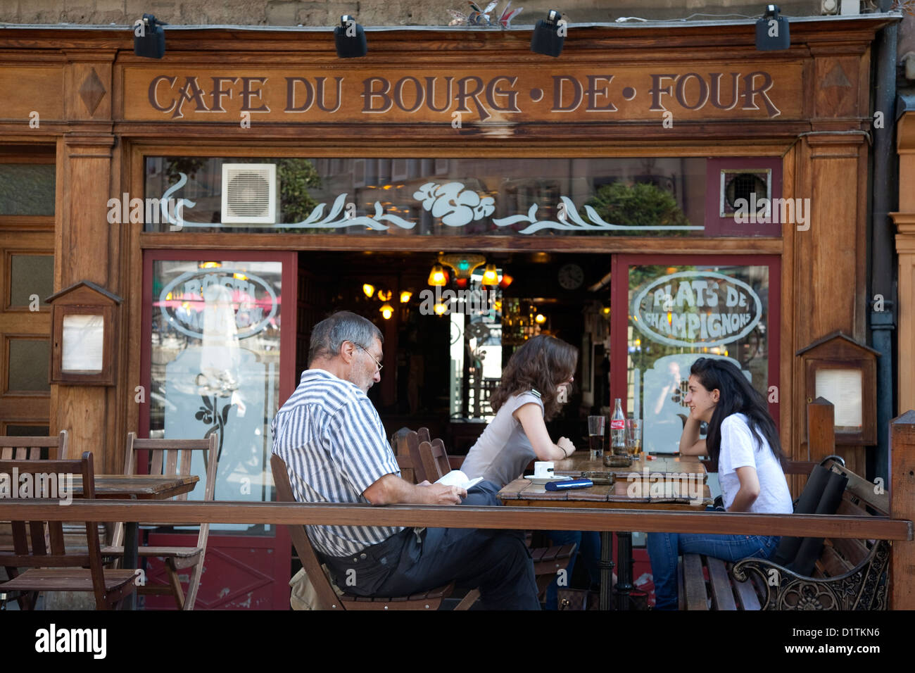 Cafe Boug de Four, Geneva; Switzerland; Europe - Stock Image