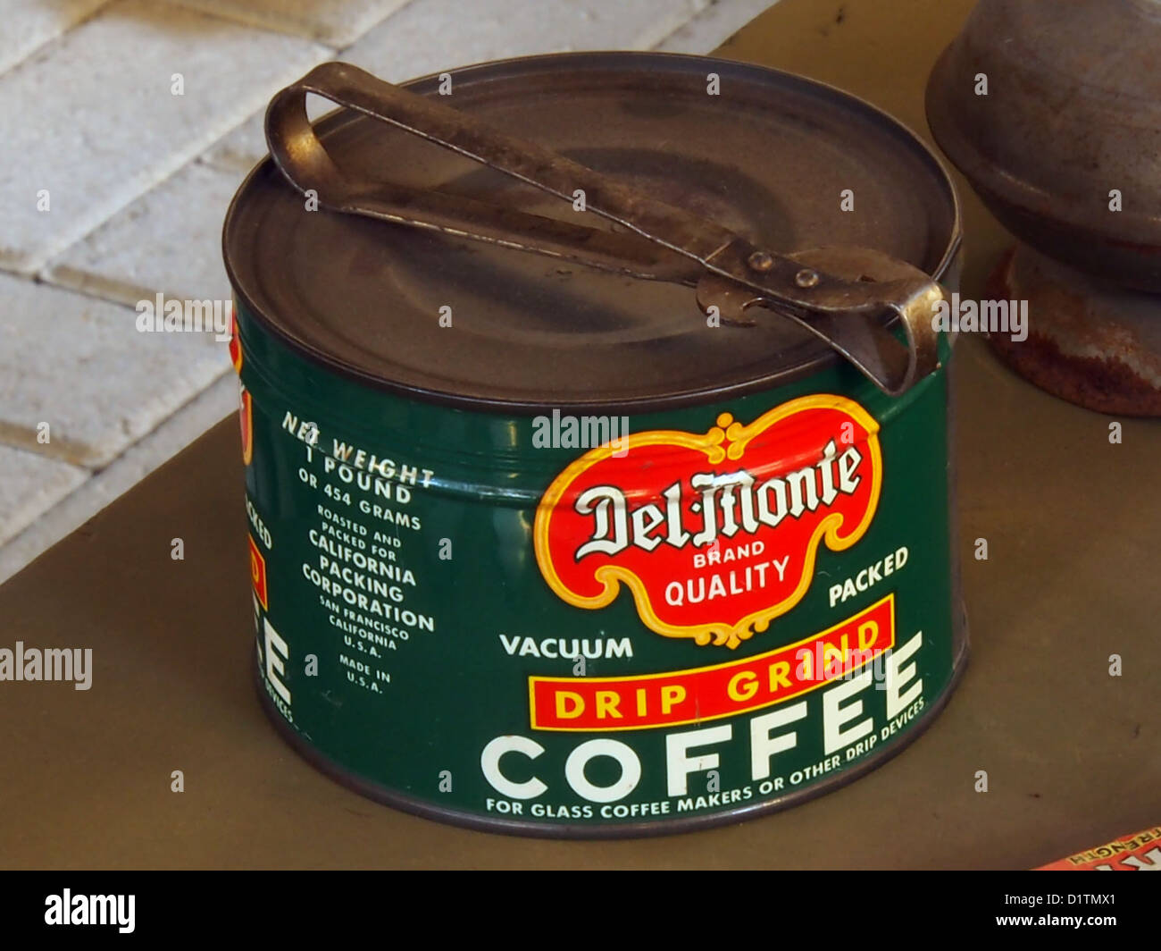 Overloon War Museum....Del-Monte Drip Grind Coffee tin can - Stock Image