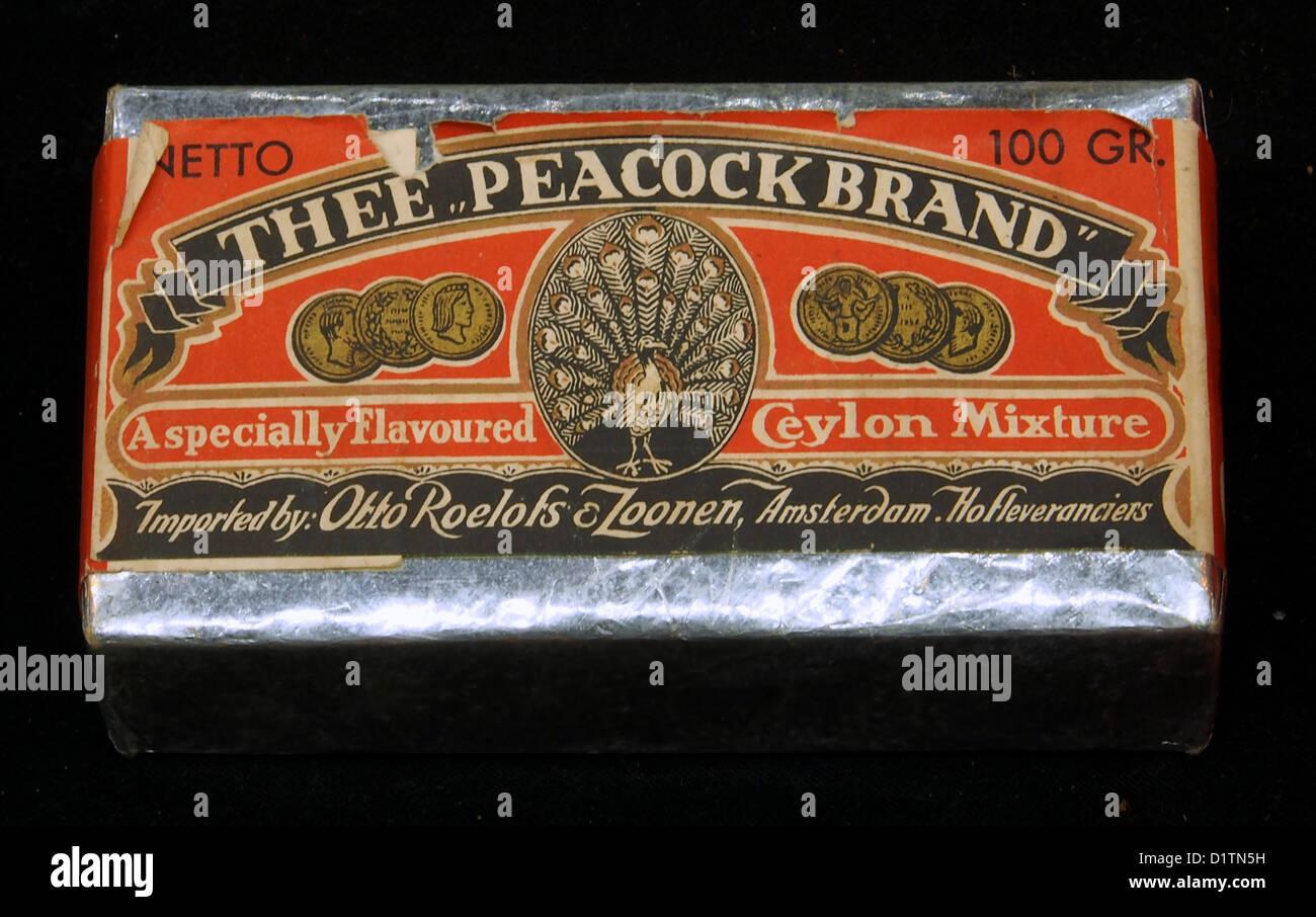 Thee 'Peacock Brand', Otto Roelofs & Zoonen, Amsterdam - Stock Image