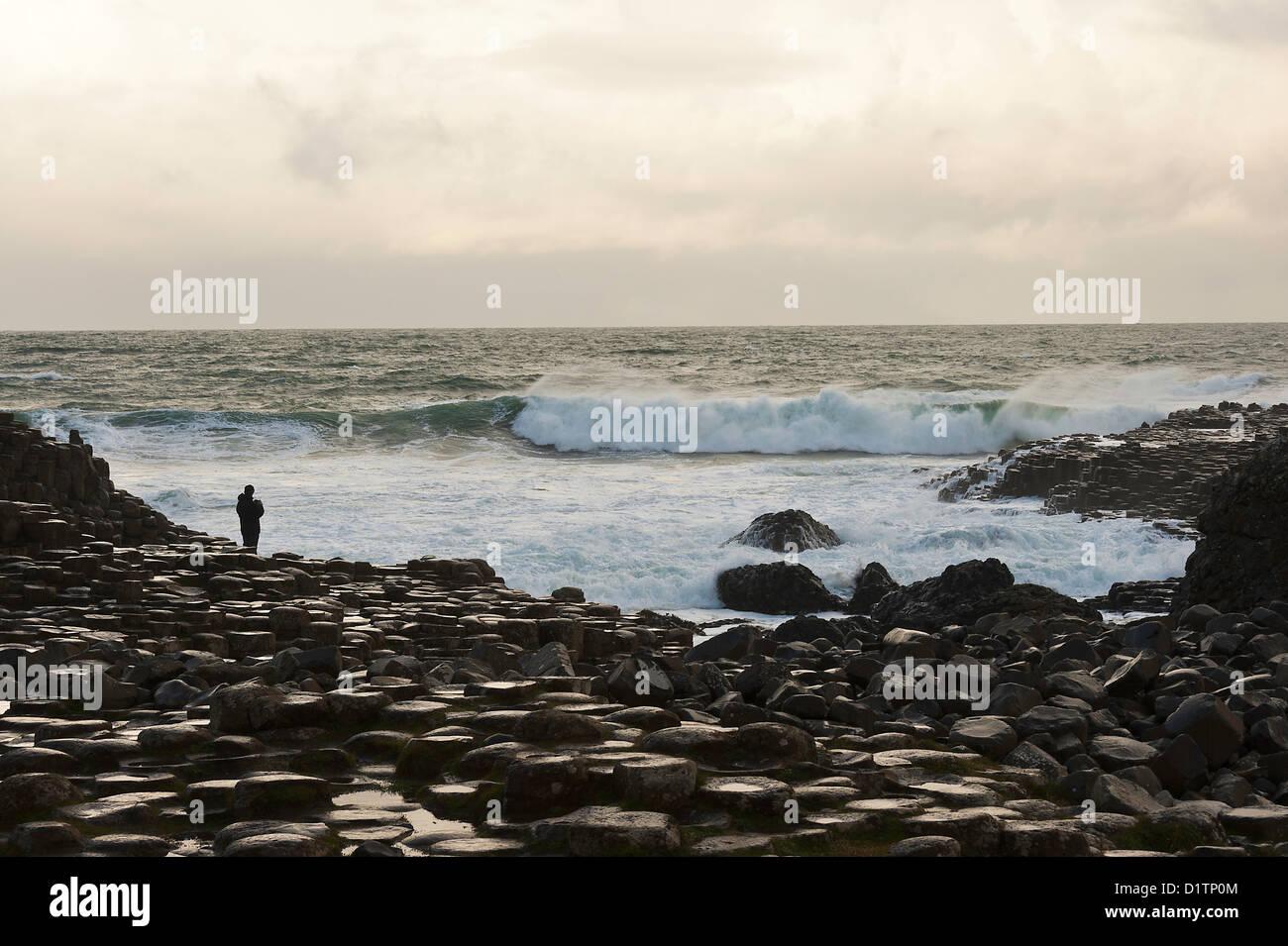 The Beautiful Giant's Causeway near Bushmills on the County Antrim Coast Northern Ireland United Kingdom UK - Stock Image