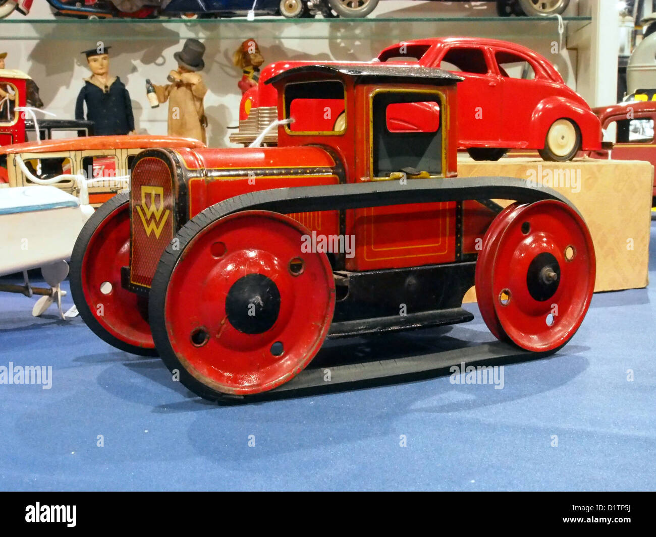 Litho tin toy BW tractor - Stock Image