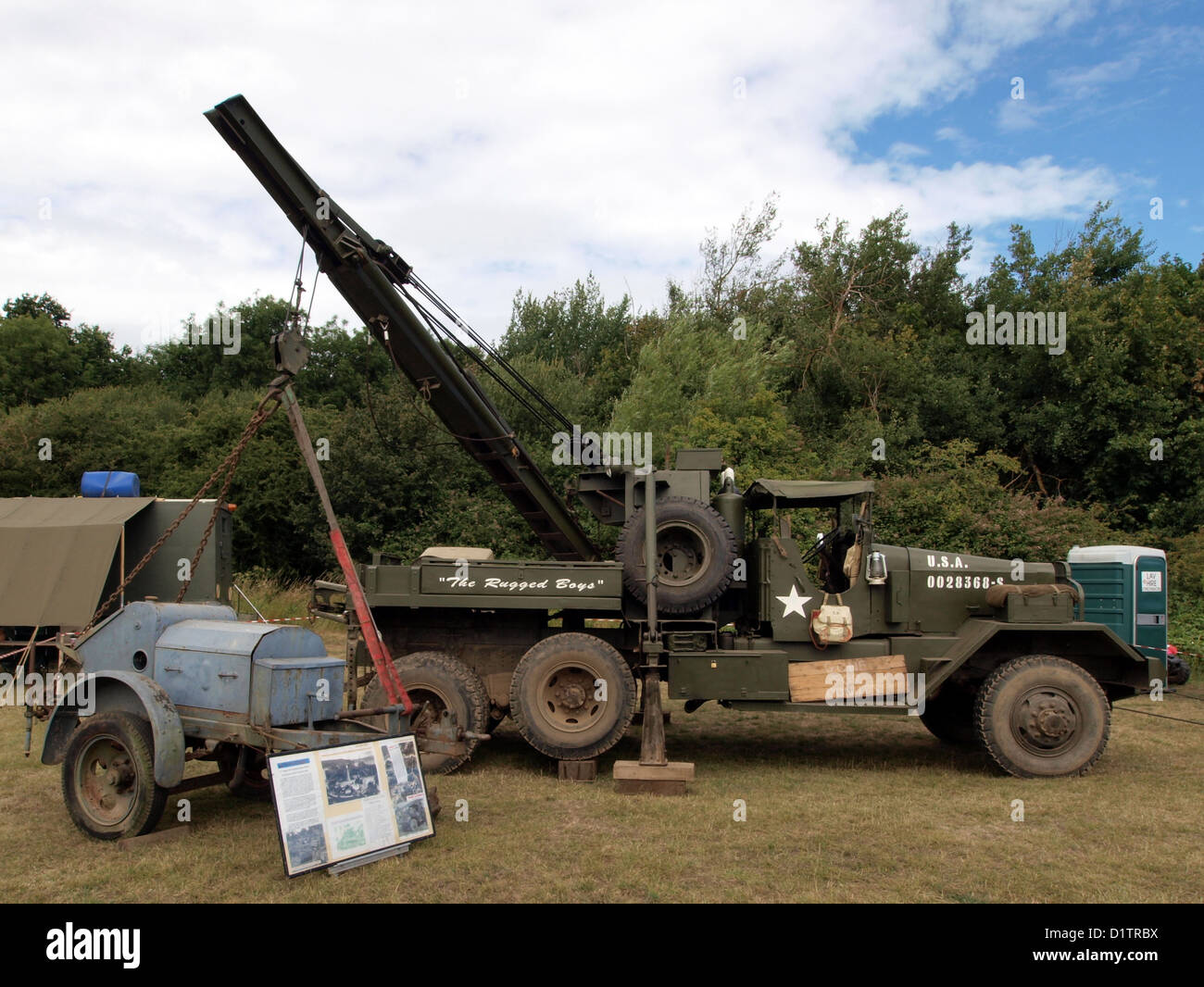 War and Peace Show....The Rugged Boys, 1943 Ward LaFrance M1A1 Model 1000 Series 5, USA - Stock Image