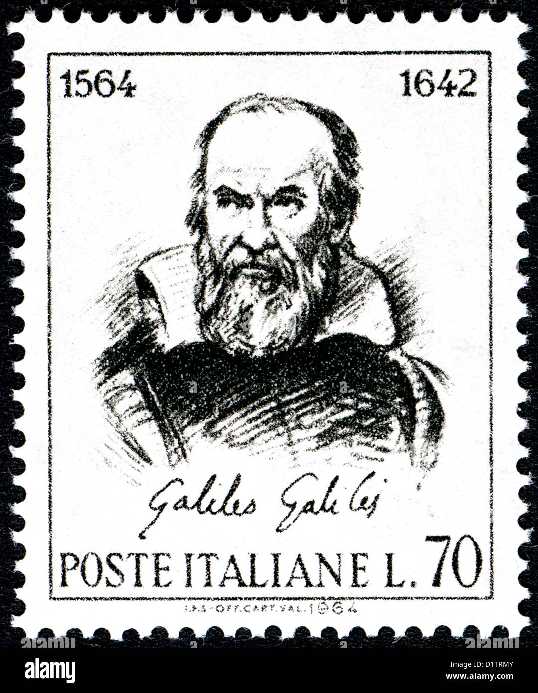 Galileo Galilei Italian physicist, mathematician, astronomer, and philosopher . - Stock Image