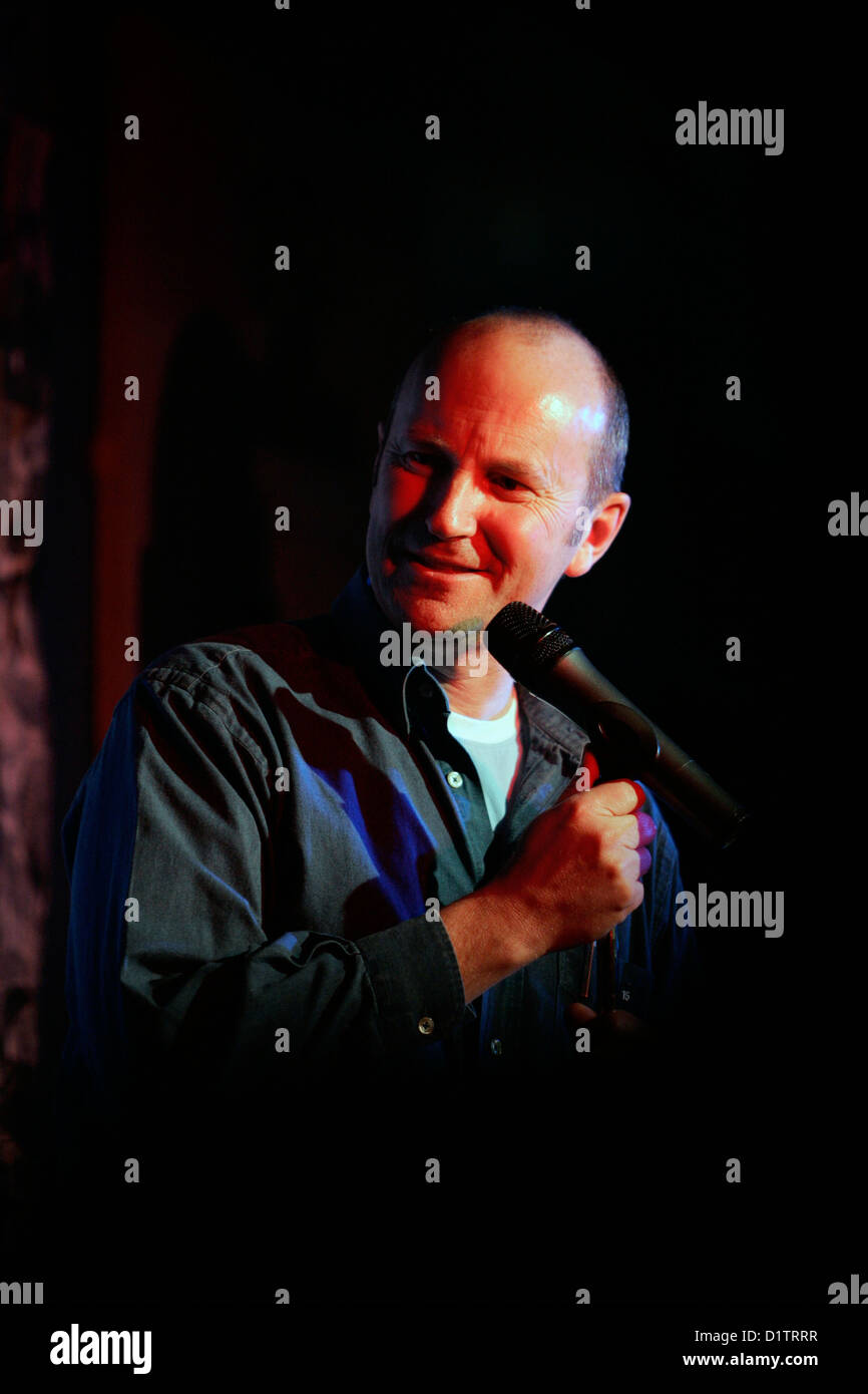 Scottish comedian Fred MacAuley performing at The Stand in Edinburgh - Stock Image