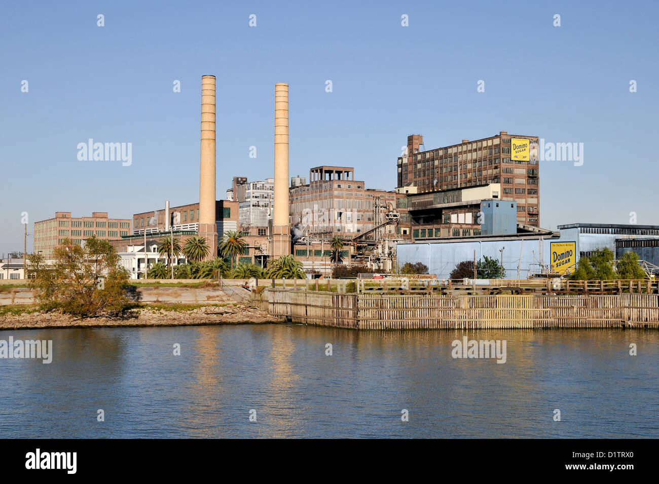 Domino Sugar's factory, New Orleans; state of Louisiana; USA; North America - Stock Image