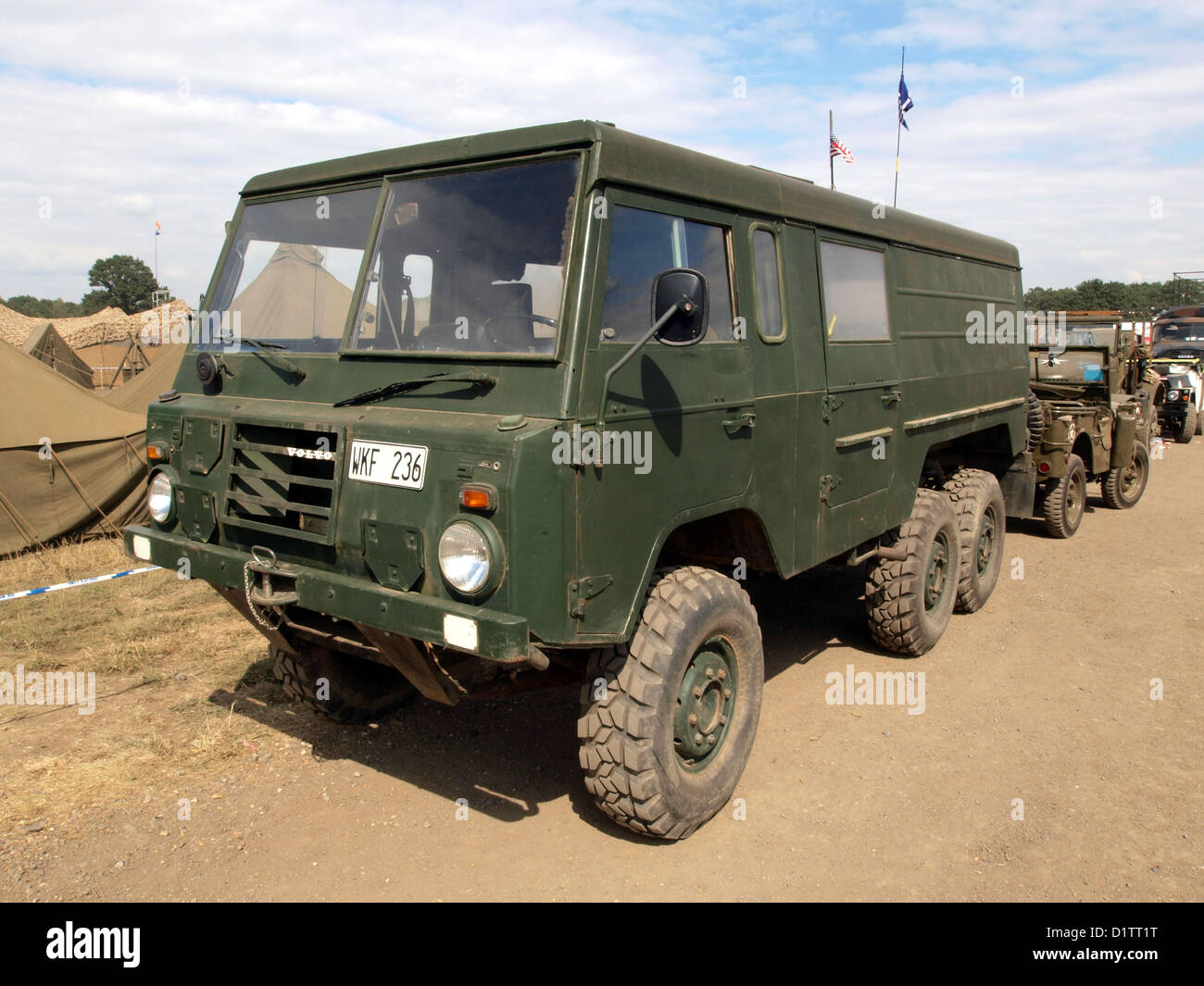 War and Peace Show....Volvo C303 Laplander - Stock Image