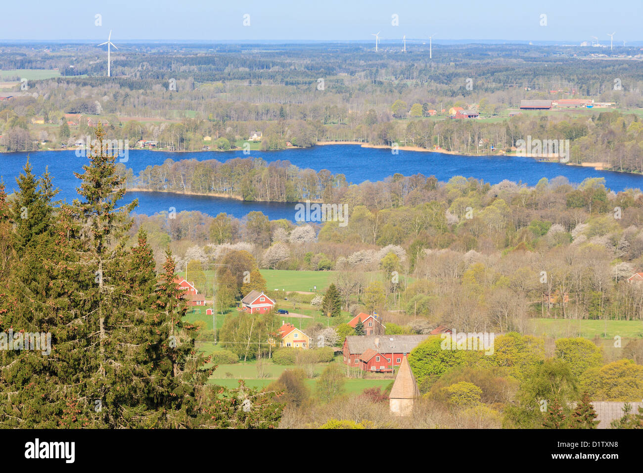 View of Valle district in Vastergotland Sweden Stock Photo