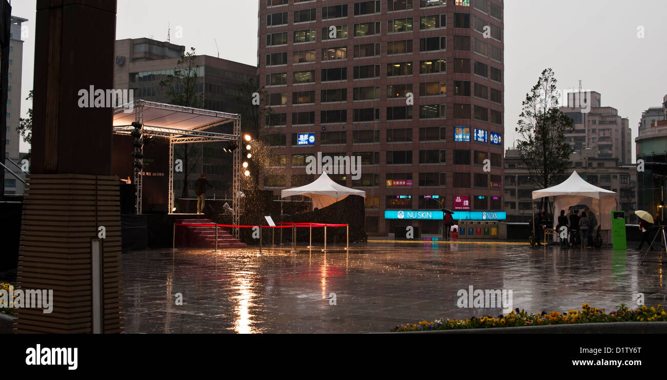 Rained-out event, Taipei - Stock Image