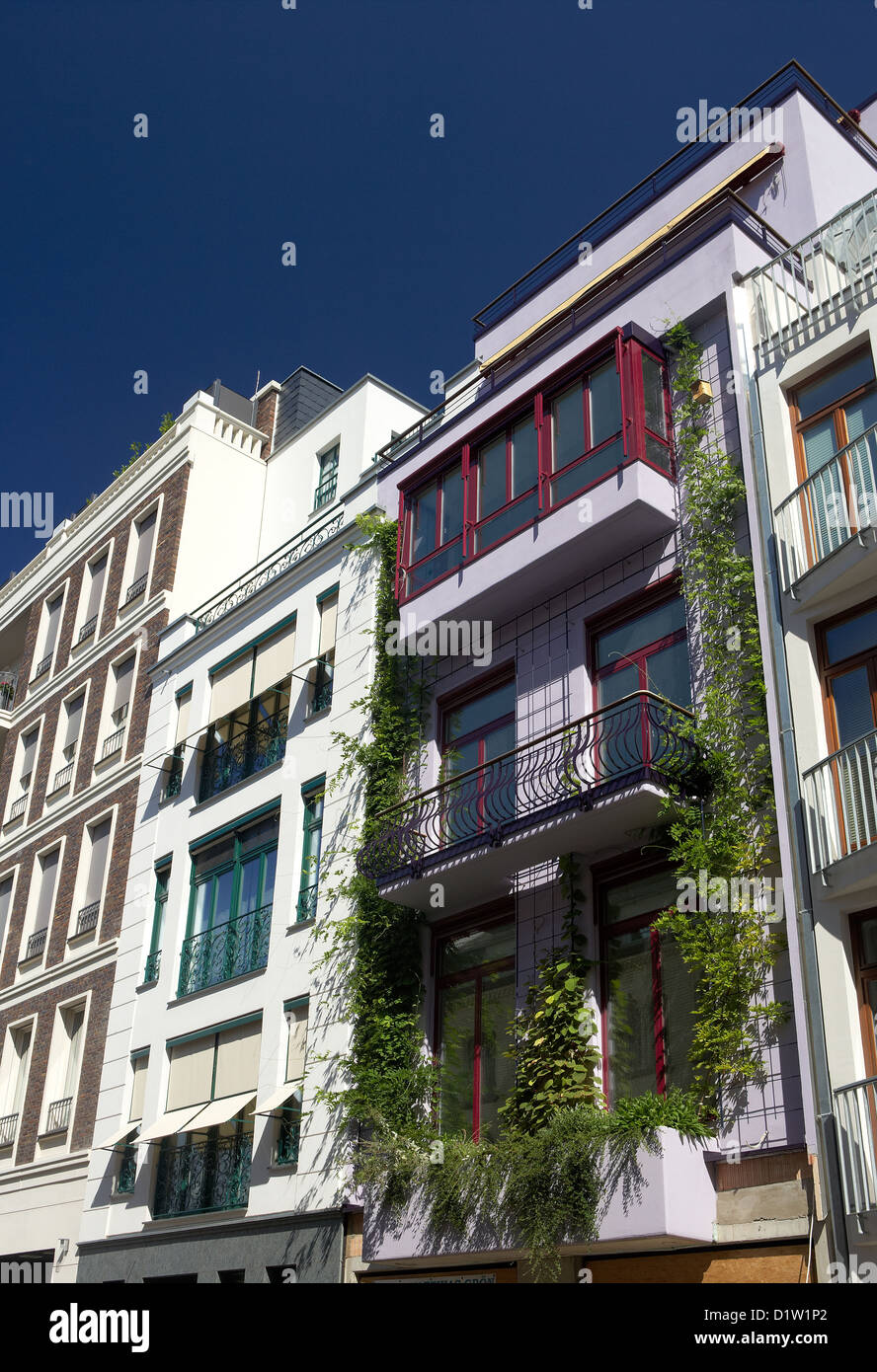 Berlin, Germany, various styles of newly built Town Houses - Stock Image