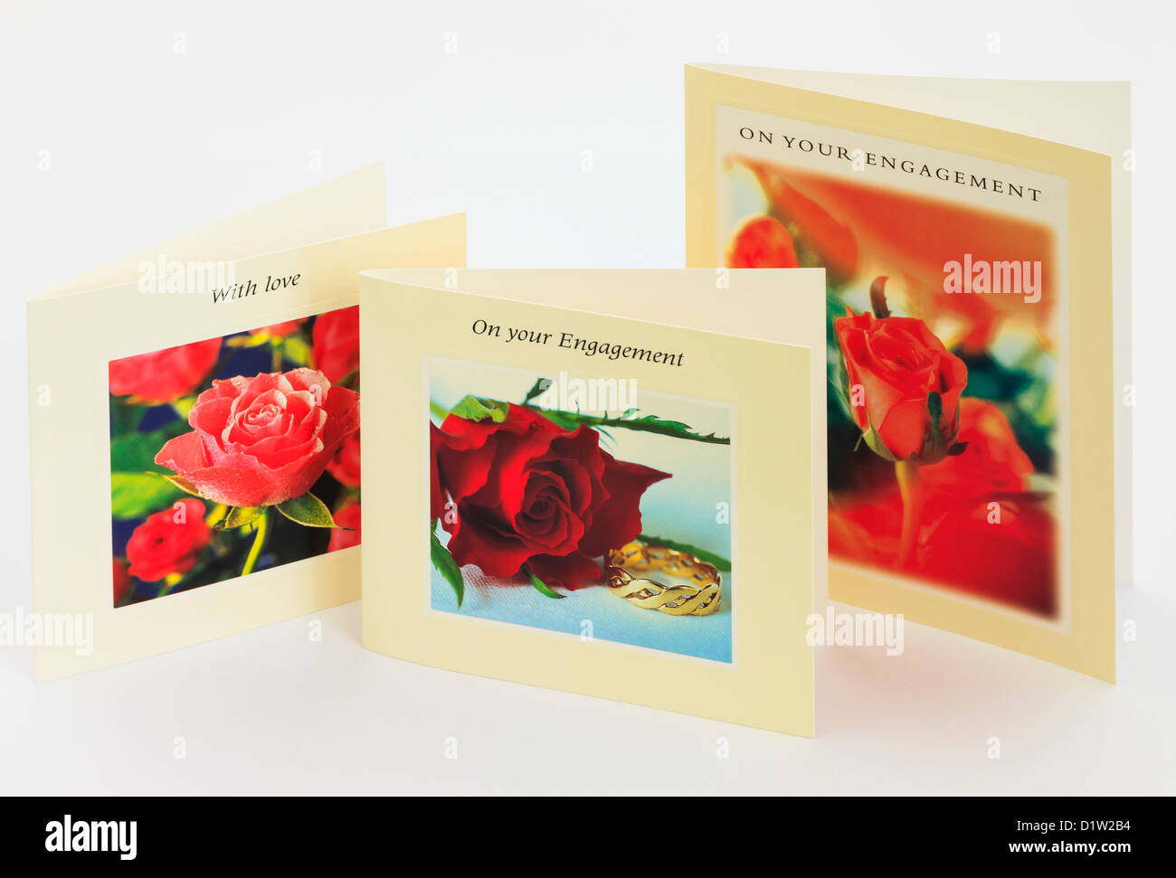 Photographic romantic greeting cards with red roses on white stock photographic romantic greeting cards with red roses on white background engagement m4hsunfo