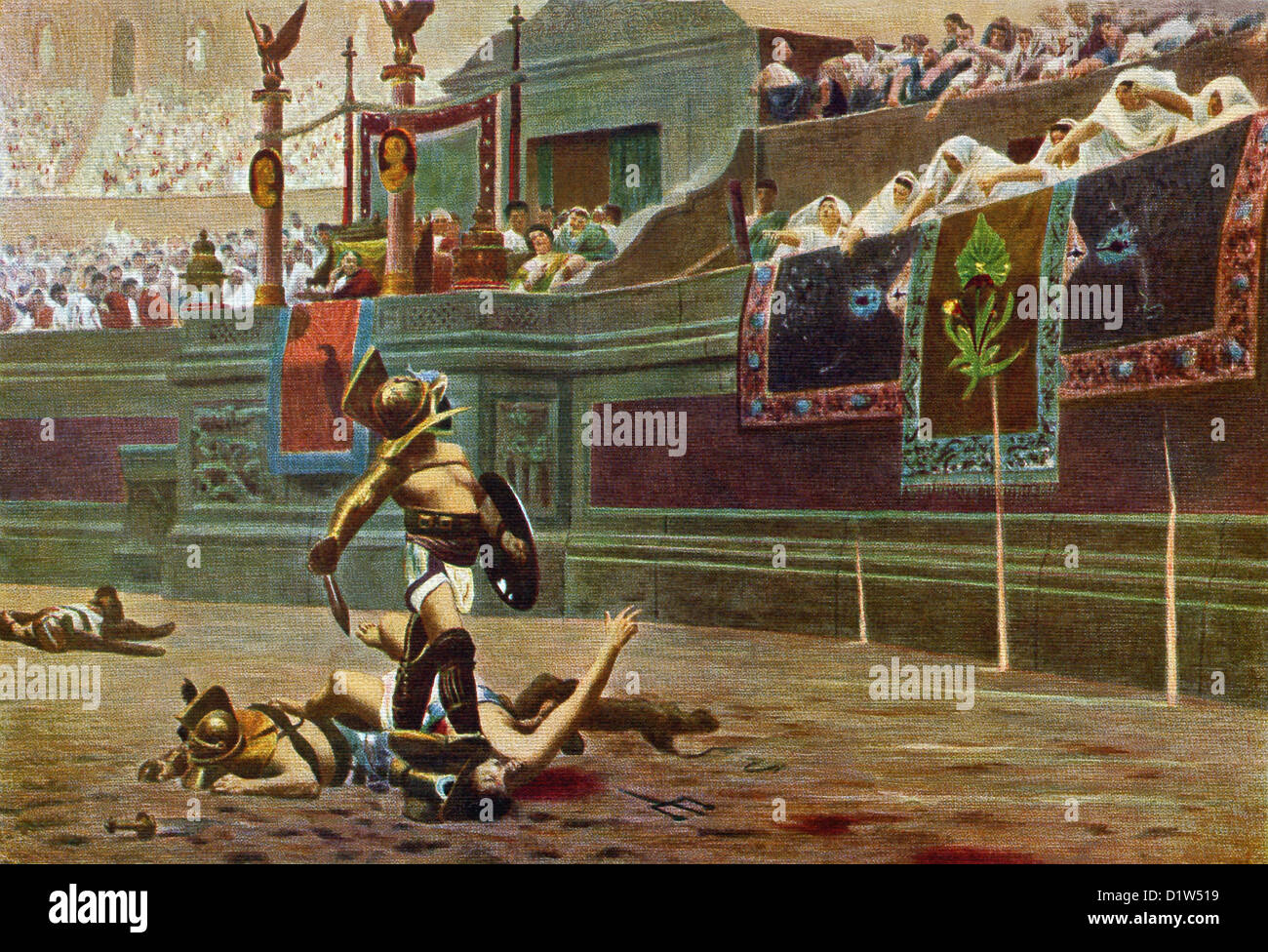 Pollice Verso is by French painter and sculptor Jean-Leon ...