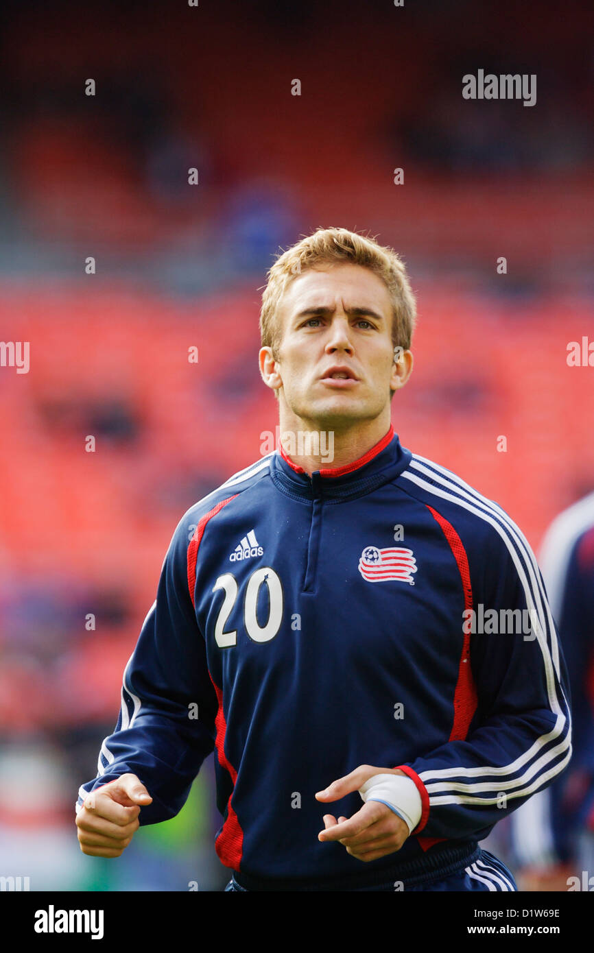 b2974cecd8c Taylor Twellman of the New England Revolution warms up before the MLS Cup  championship soccer match
