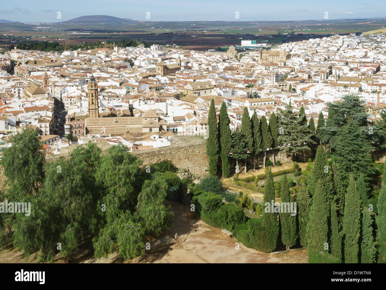 Spain, Andalucia - Antequera. The town from the the Alcazaba castle. - Stock Image