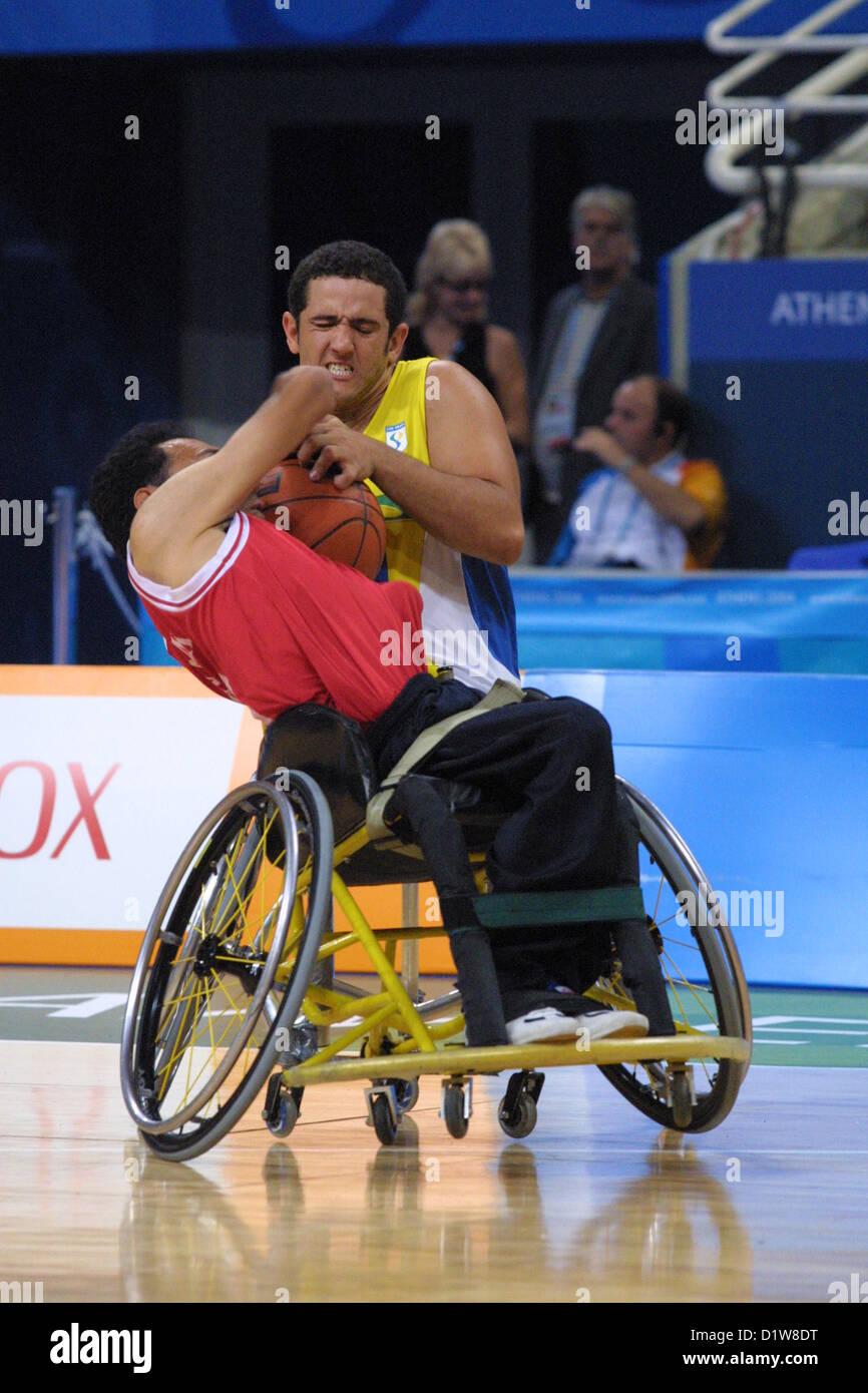 wheelchair basketball brazil v iran athens paralympic games 2004