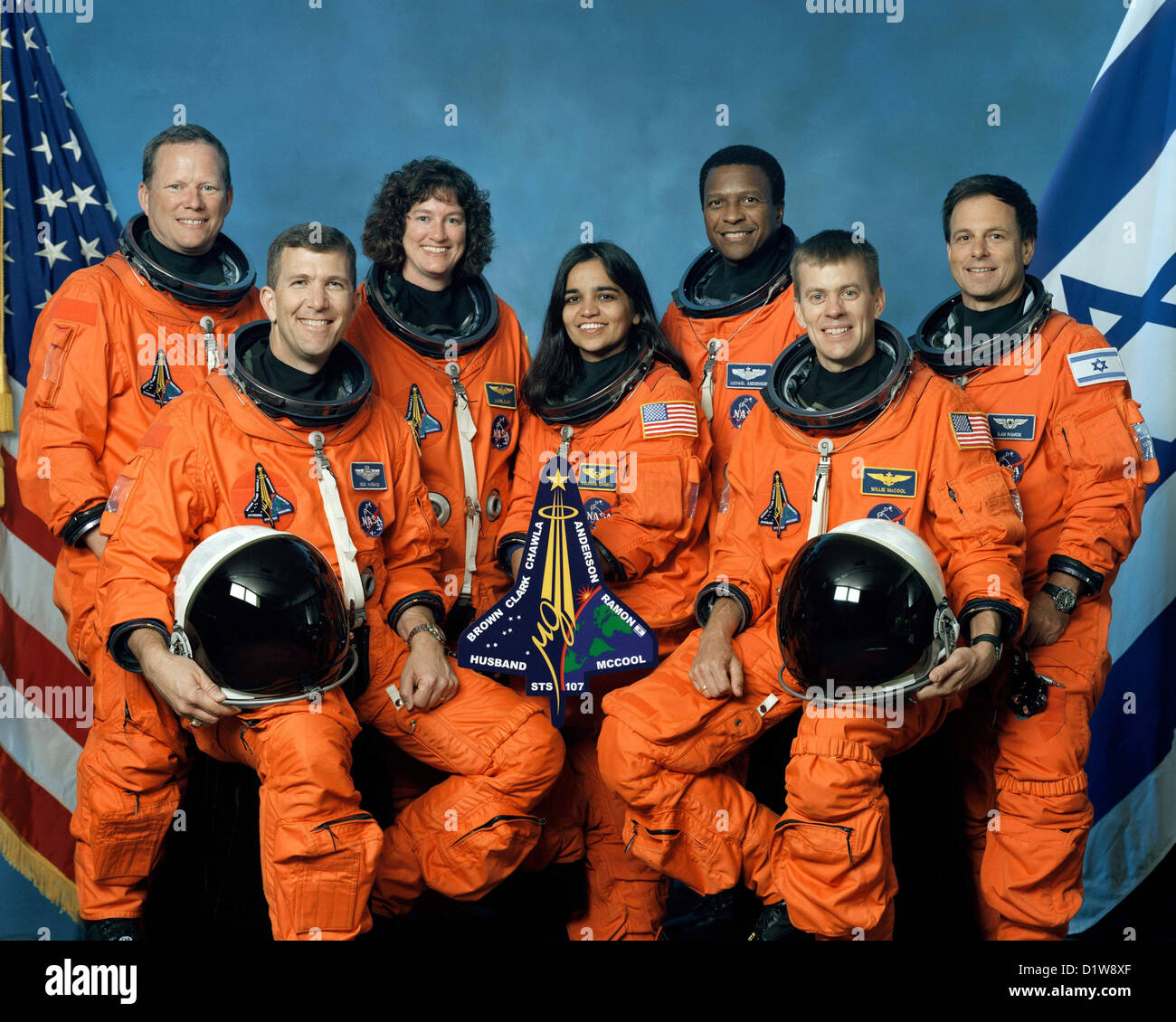 Space Shuttle Columbia's mission crew STS-107 - Stock Image