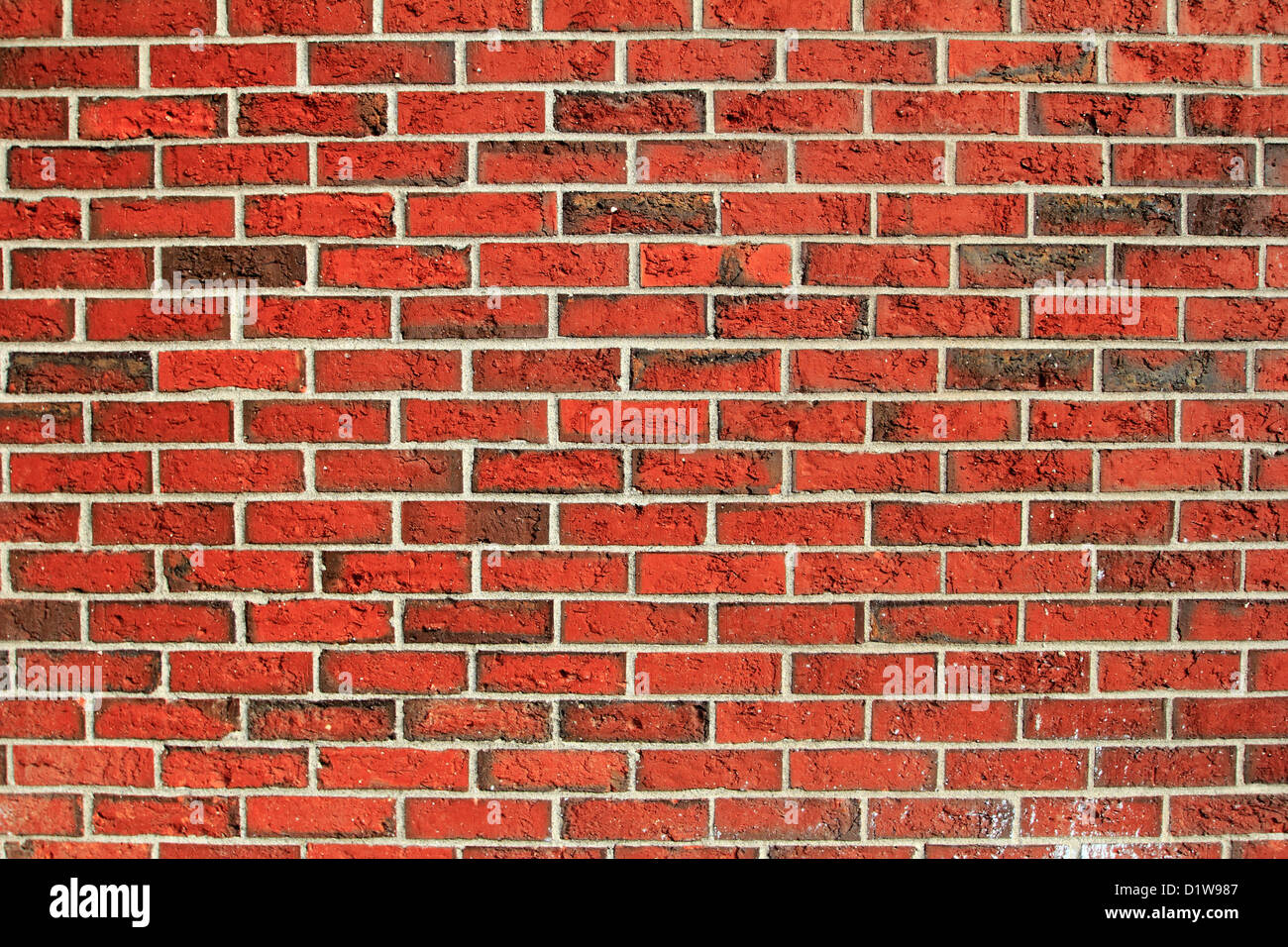 a red brick wall background backdrop pattern wallpaper Stock Photo